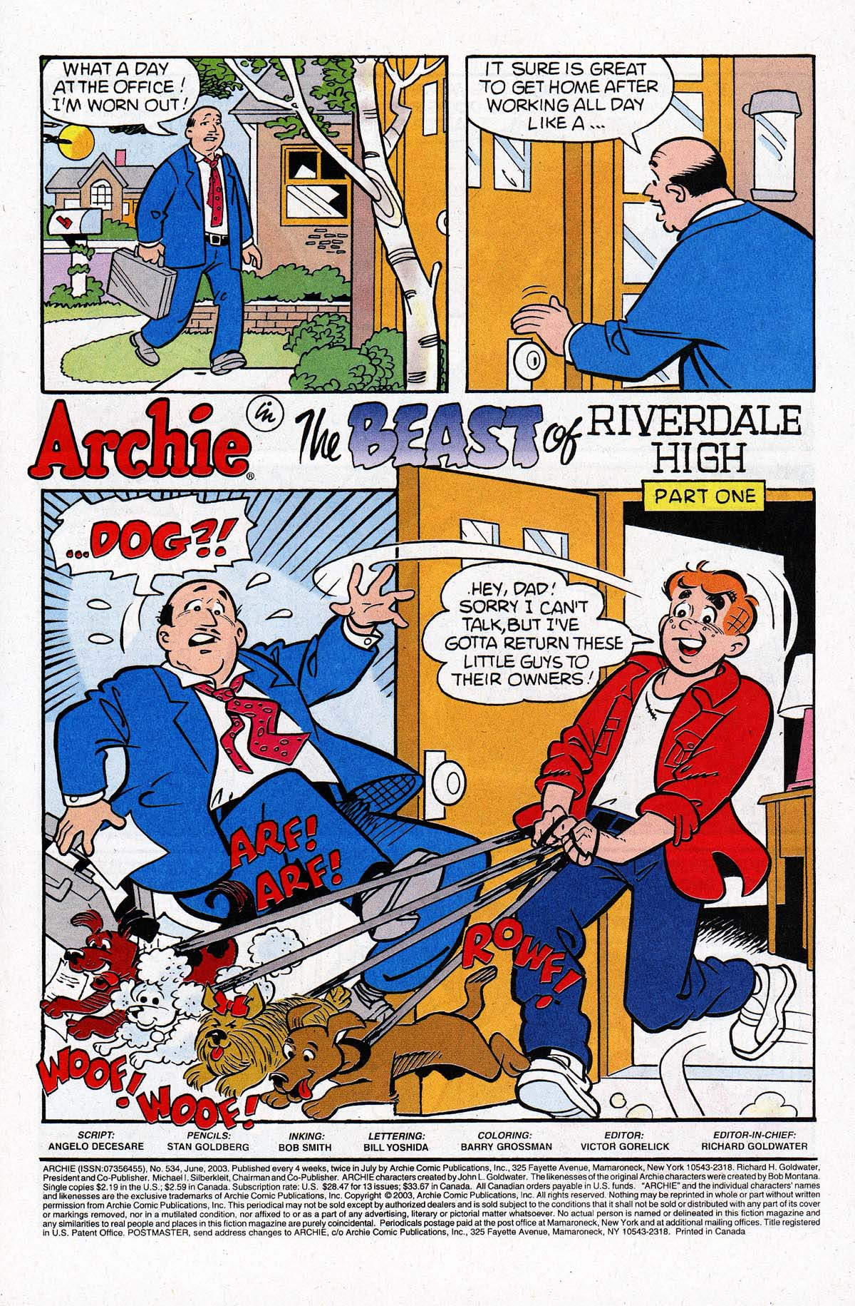 Read online Archie (1960) comic -  Issue #534 - 2