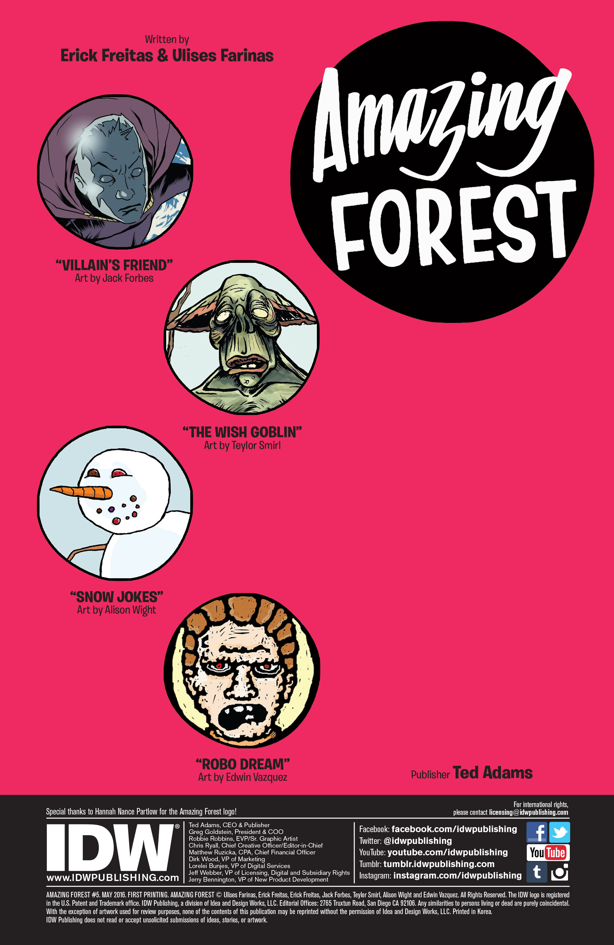 Read online Amazing Forest (2016) comic -  Issue #5 - 2