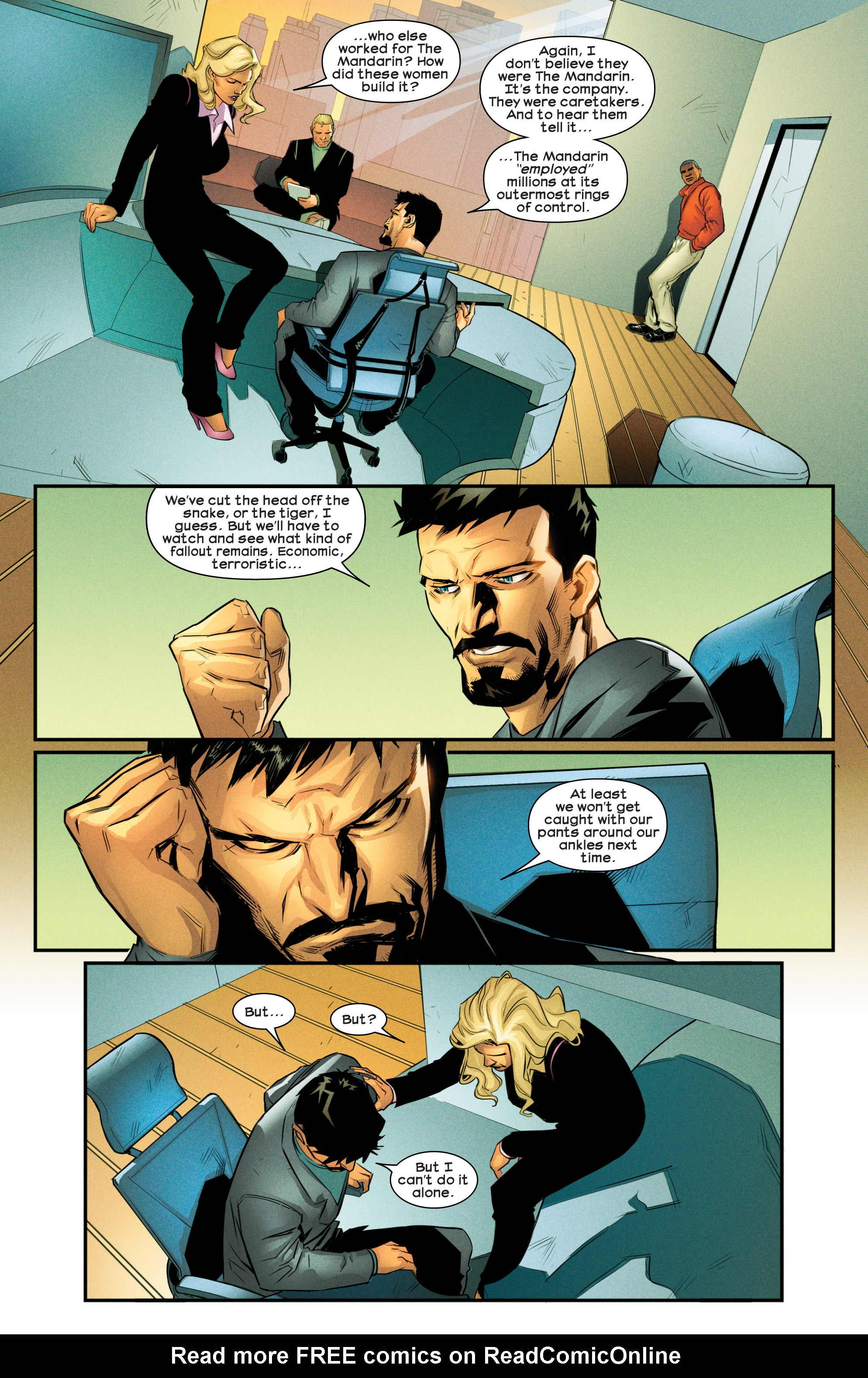 Read online Ultimate Comics Iron Man comic -  Issue #4 - 19