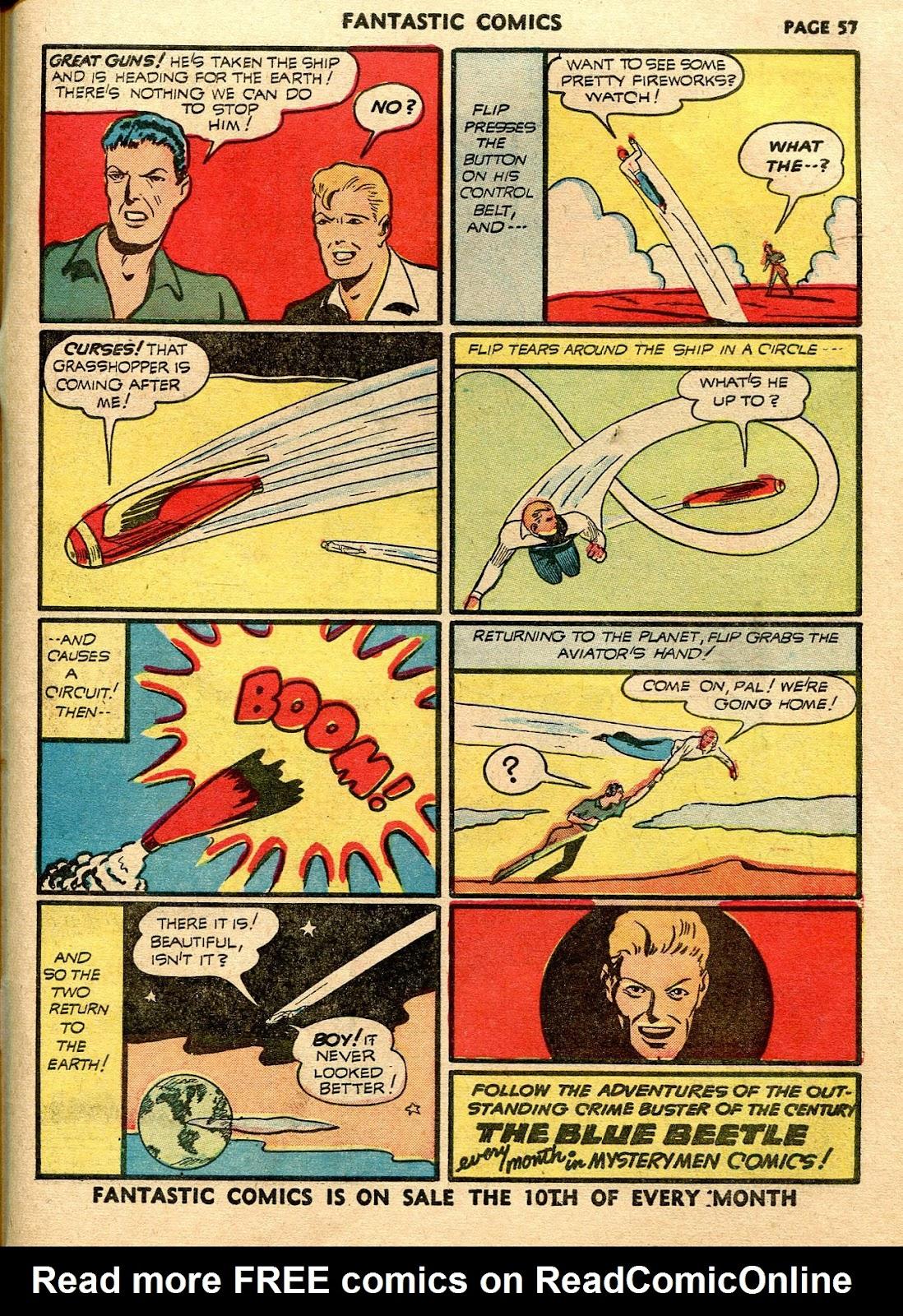 Read online Fantastic Comics comic -  Issue #21 - 55