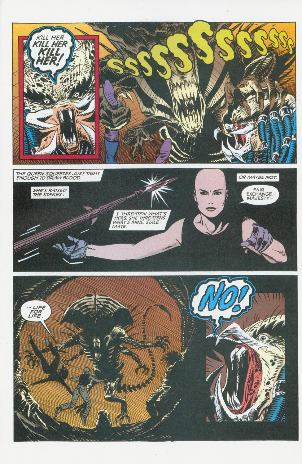 Read online Aliens/Predator: The Deadliest of the Species comic -  Issue #8 - 24