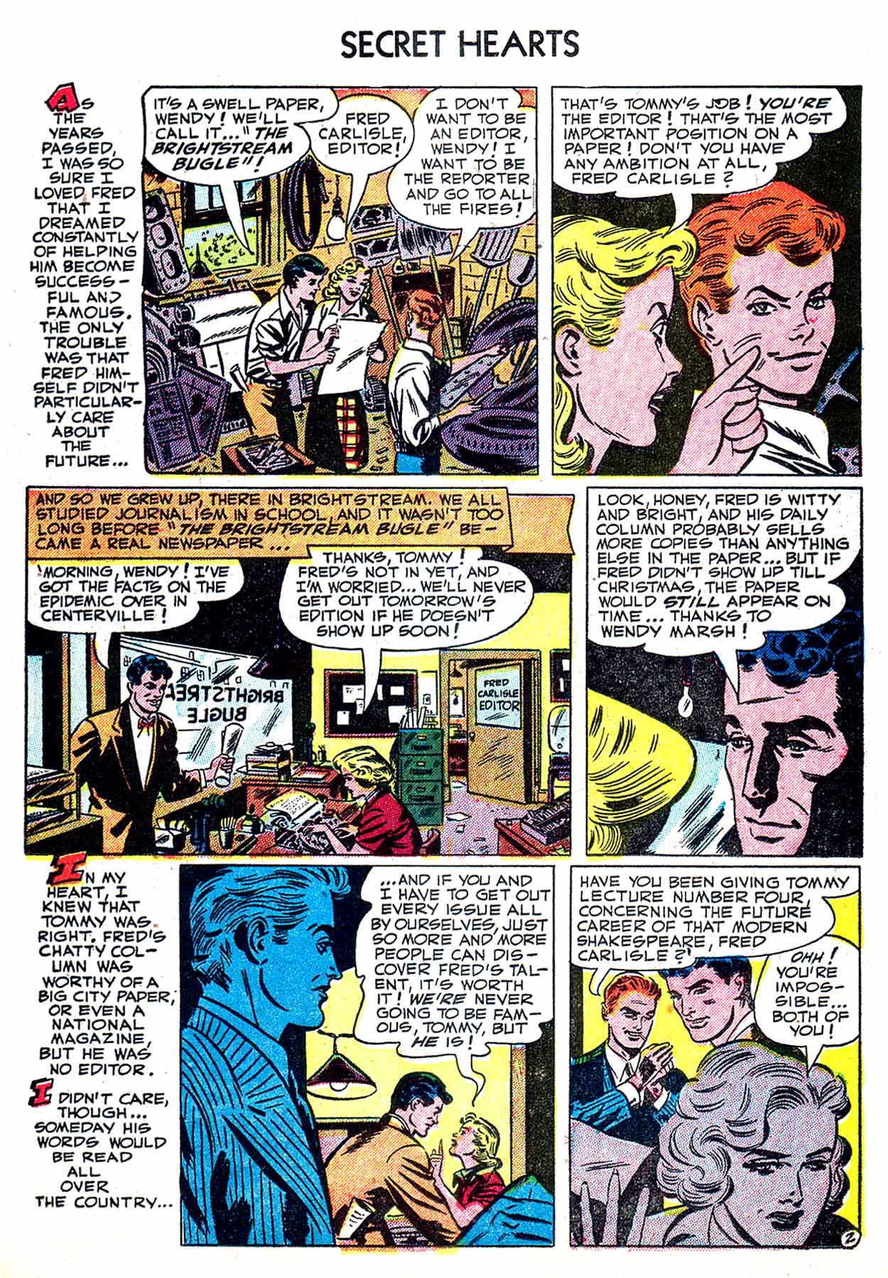Read online Secret Hearts comic -  Issue #8 - 19