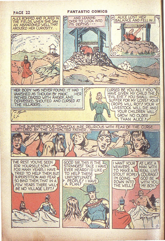 Read online Fantastic Comics comic -  Issue #4 - 24