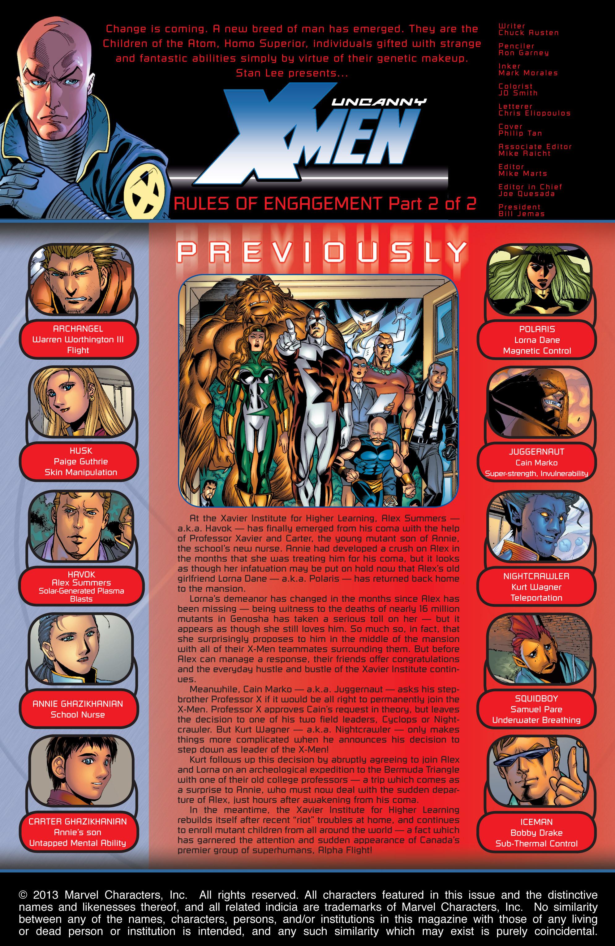Read online Uncanny X-Men (1963) comic -  Issue #422 - 2