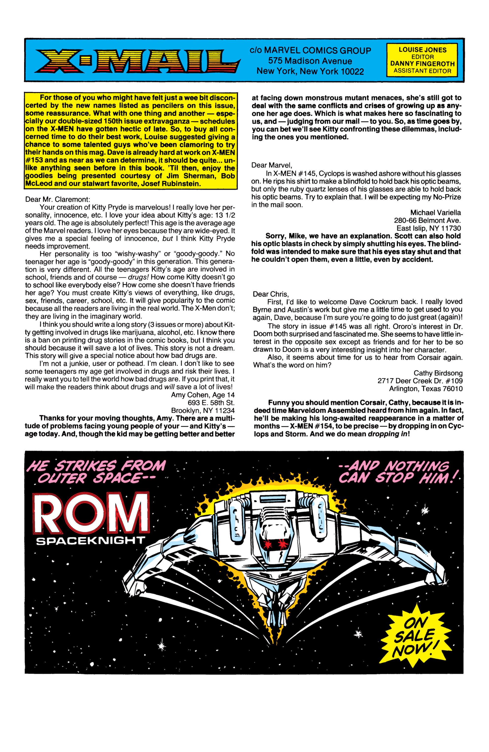 Read online Uncanny X-Men (1963) comic -  Issue #151 - 23