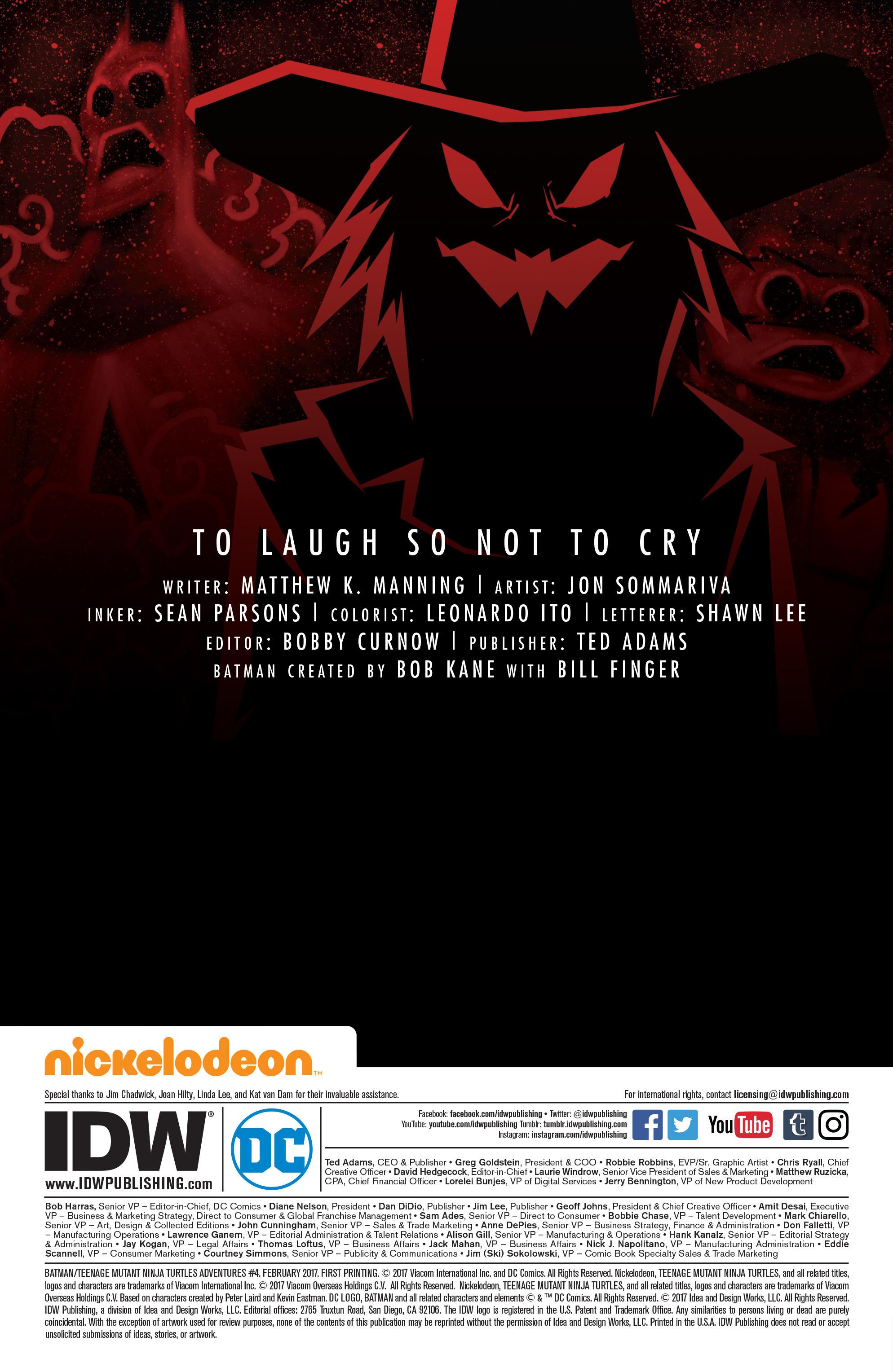 Read online Batman/Teenage Mutant Ninja Turtles Adventure comic -  Issue #4 - 2