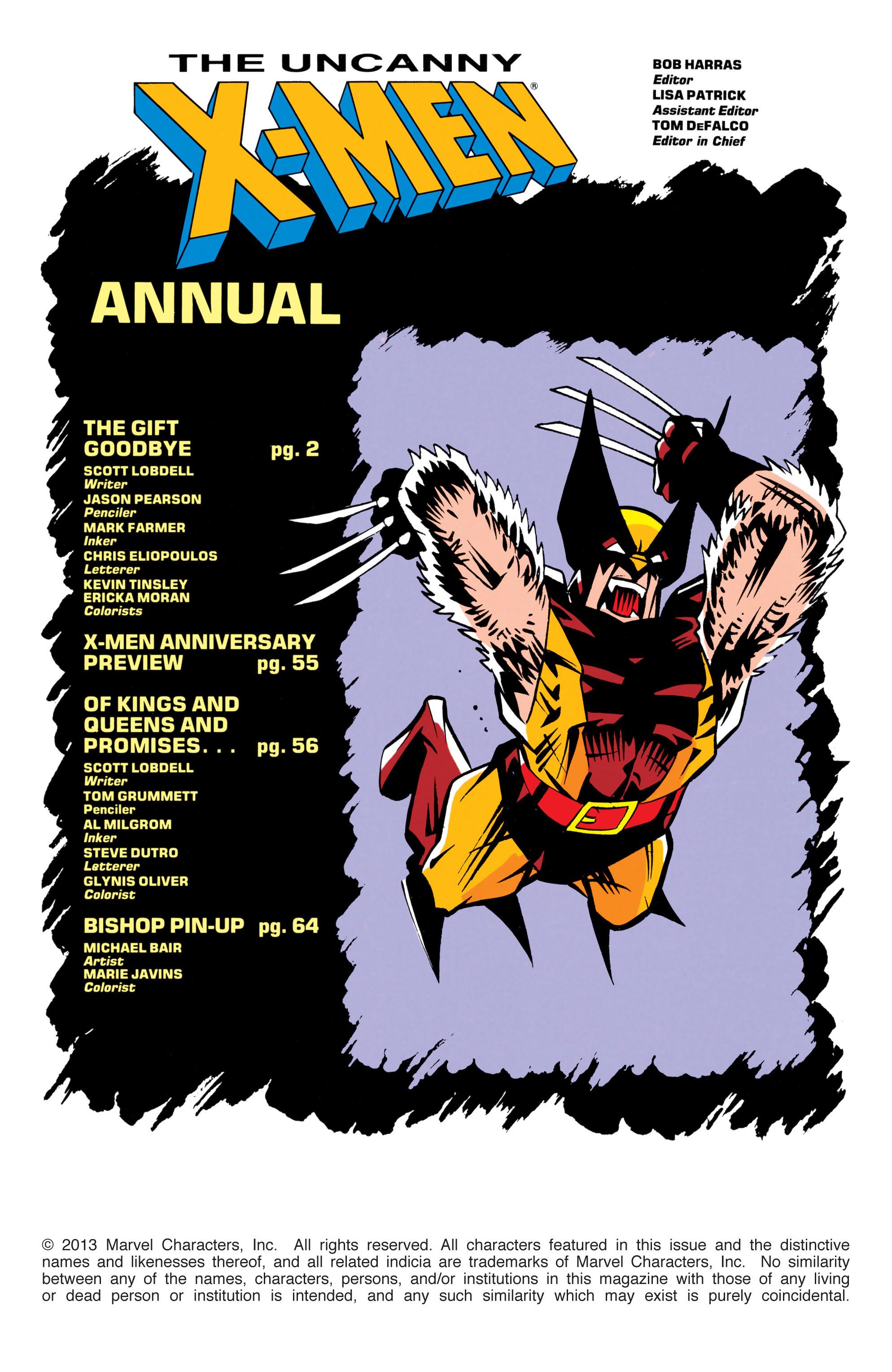 Read online Uncanny X-Men (1963) comic -  Issue # _Annual 17 - 2