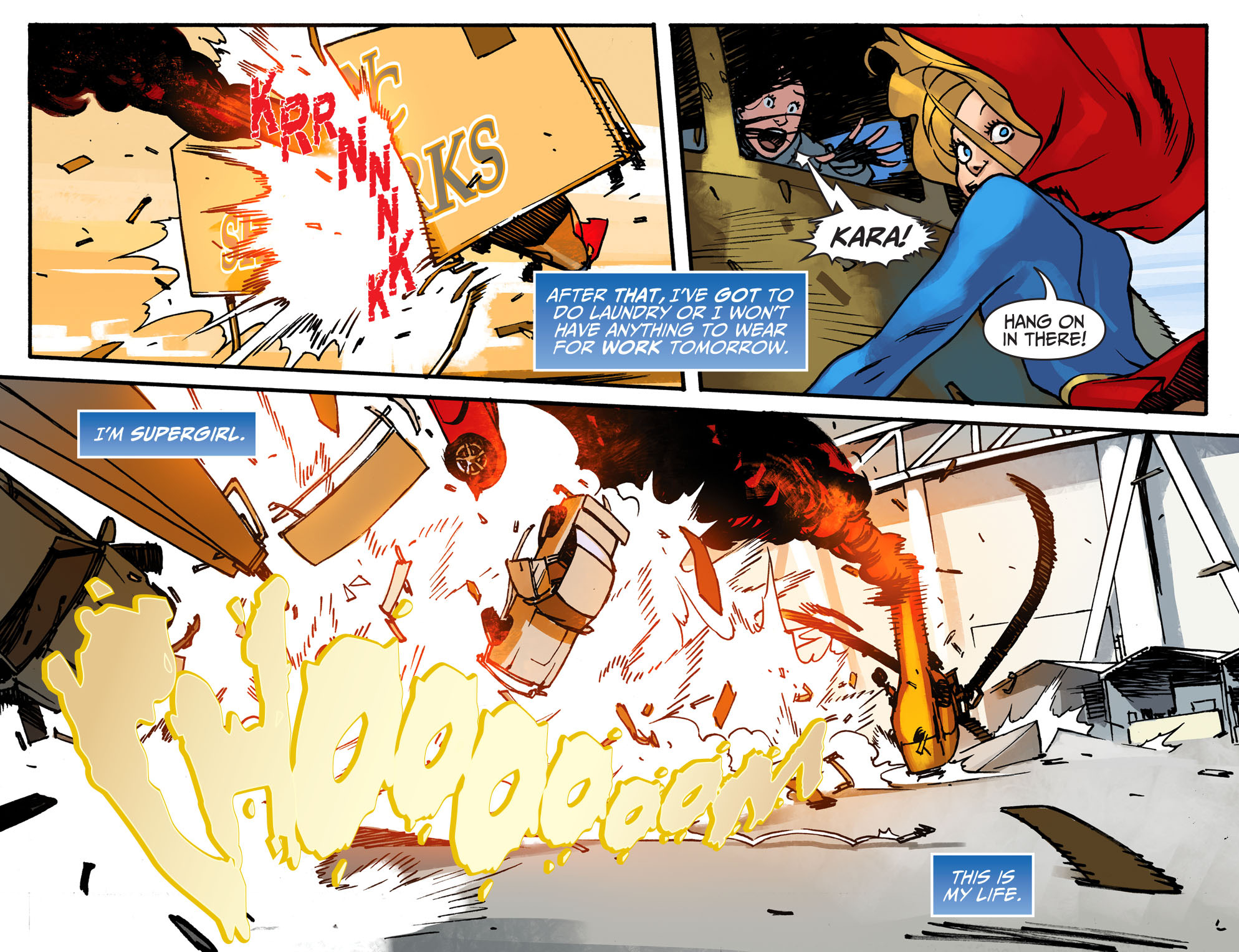 Read online Adventures of Supergirl comic -  Issue #2 - 6