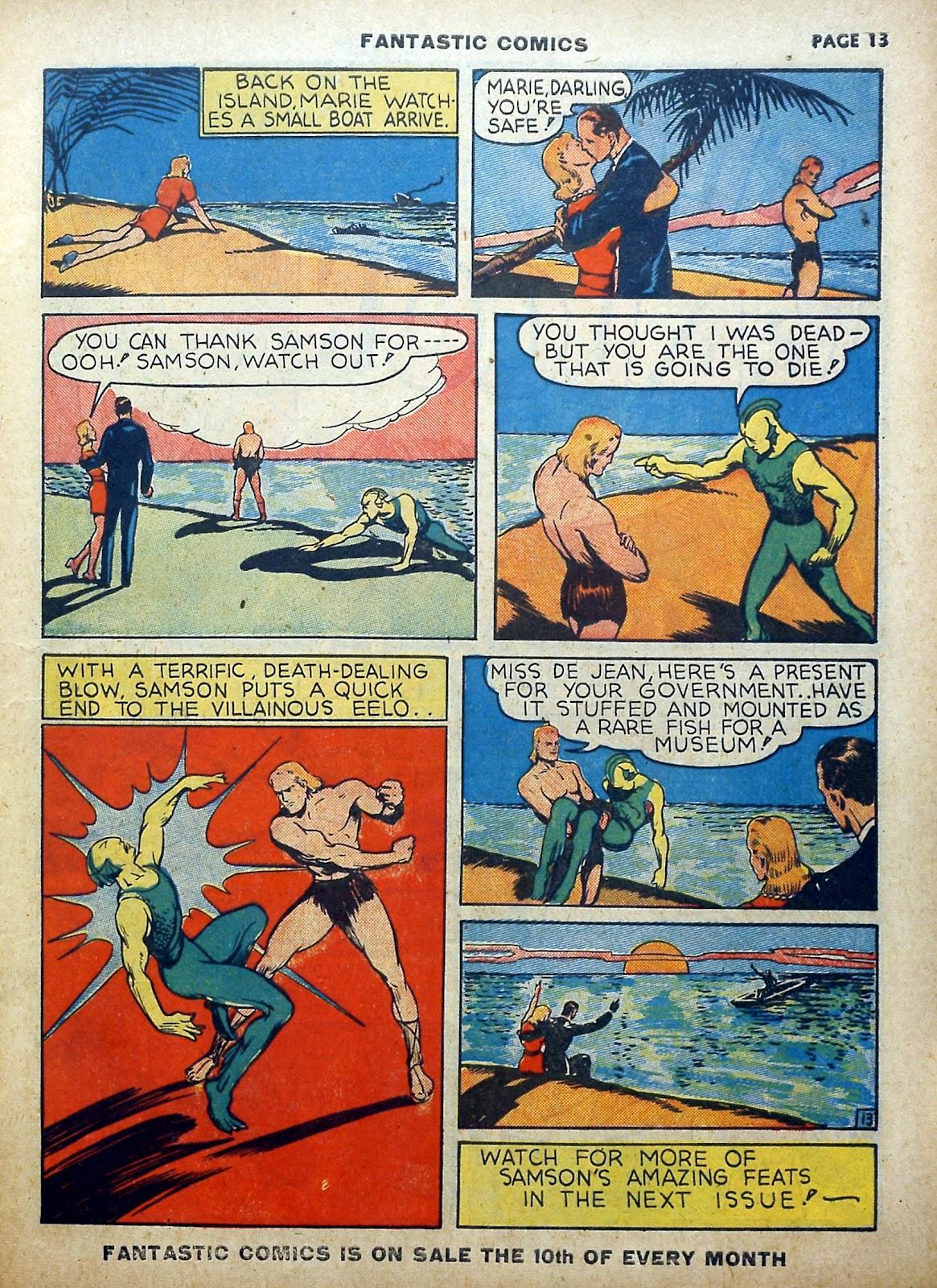 Read online Fantastic Comics comic -  Issue #5 - 14