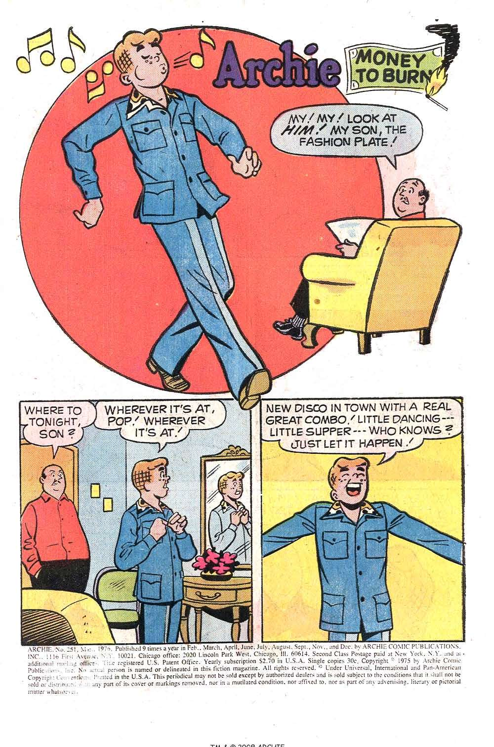 Read online Archie (1960) comic -  Issue #251 - 3