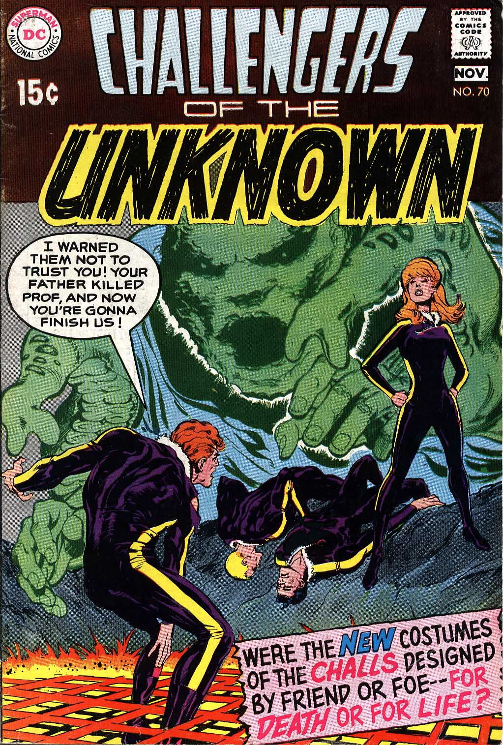 Challengers of the Unknown (1958) issue 70 - Page 1