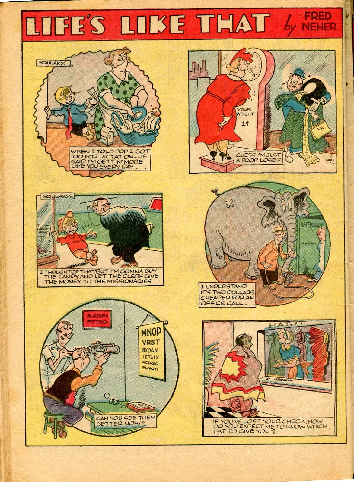 Read online Famous Funnies comic -  Issue #49 - 58