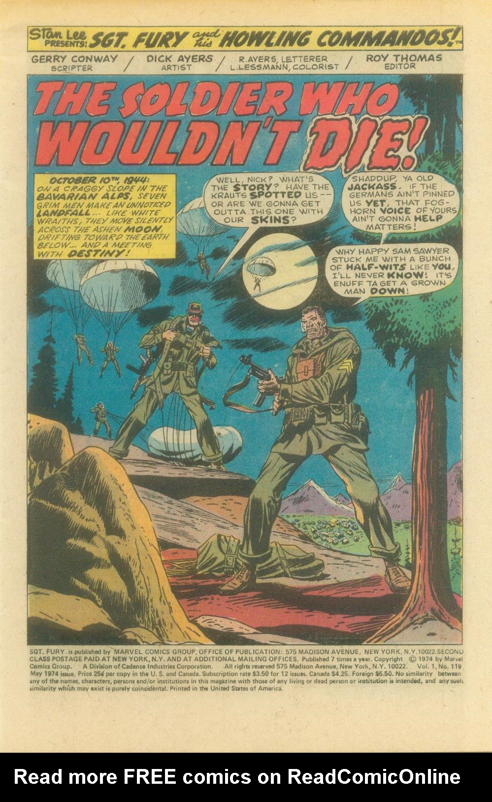 Read online Sgt. Fury comic -  Issue #119 - 3