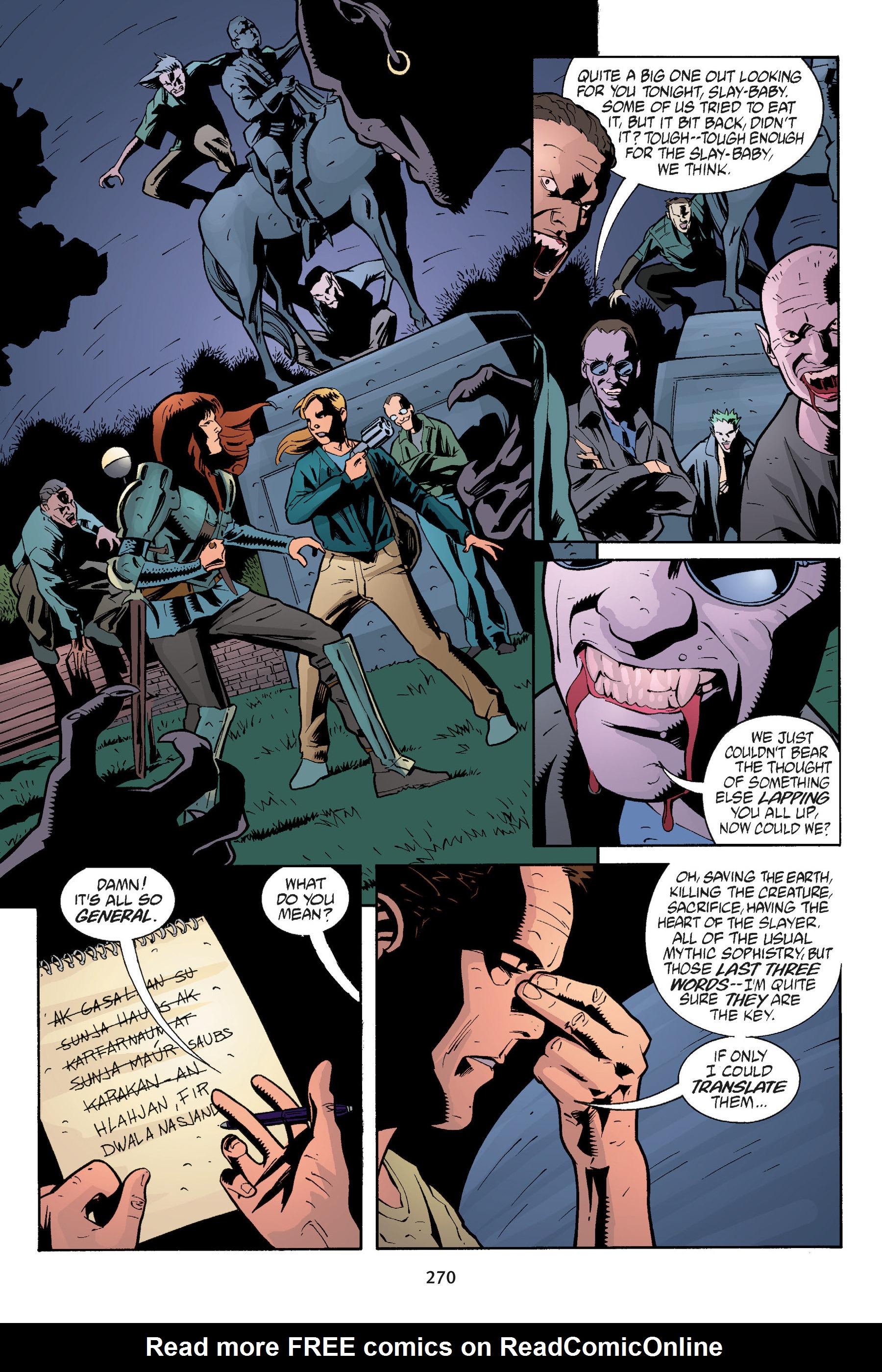 Read online Buffy the Vampire Slayer: Omnibus comic -  Issue # TPB 5 - 269