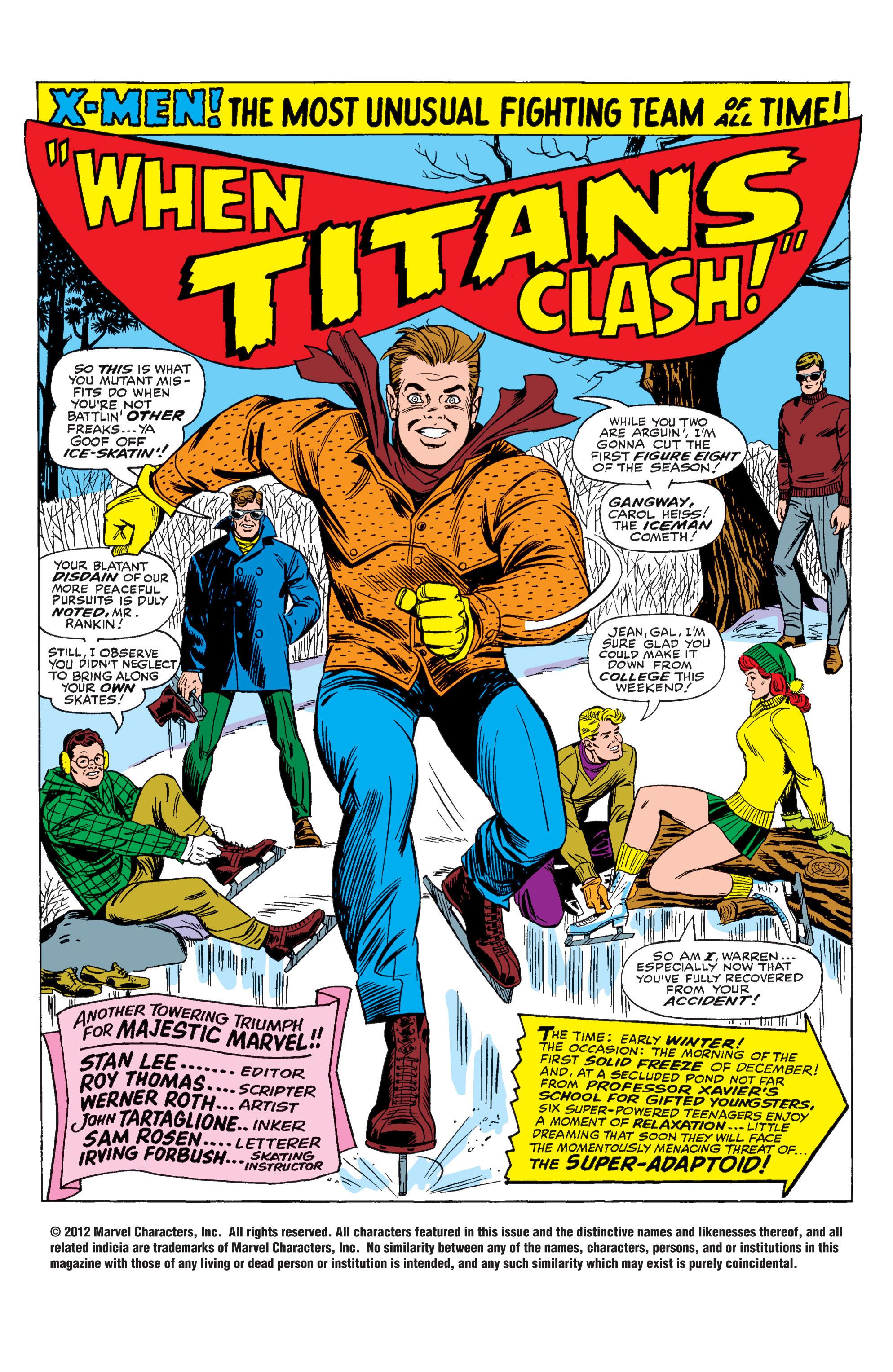 Uncanny X-Men (1963) 29 Page 1