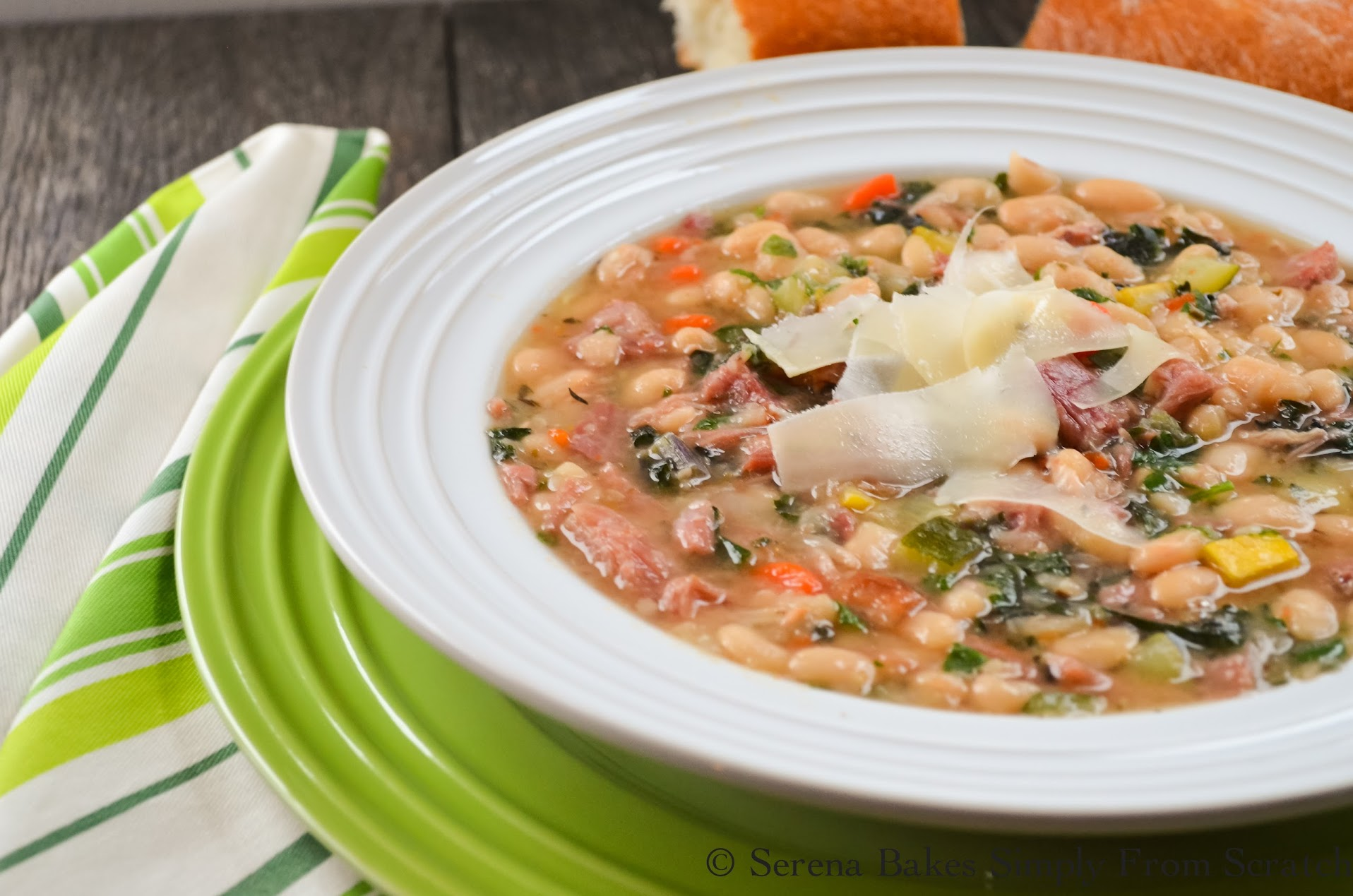 Tuscan Ham and Bean Soup is hearty, healthy and easy to make.