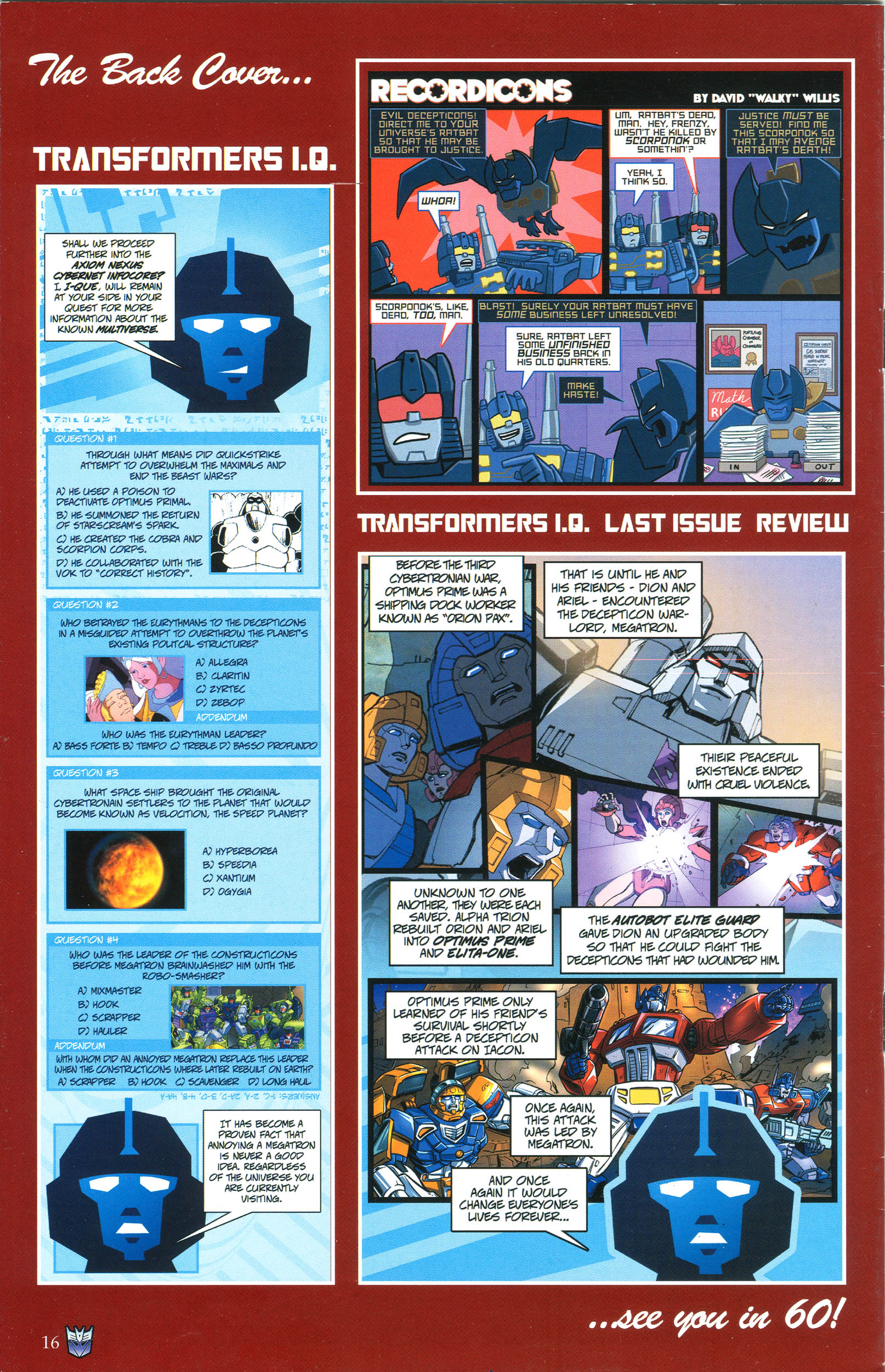 Read online Transformers: Collectors' Club comic -  Issue #44 - 16