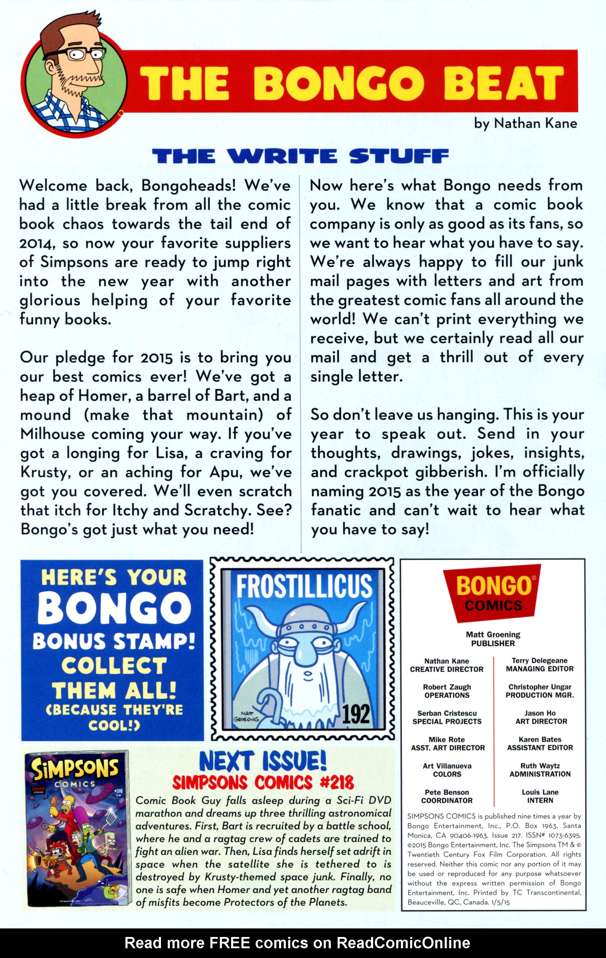 Read online Simpsons Comics comic -  Issue #217 - 27
