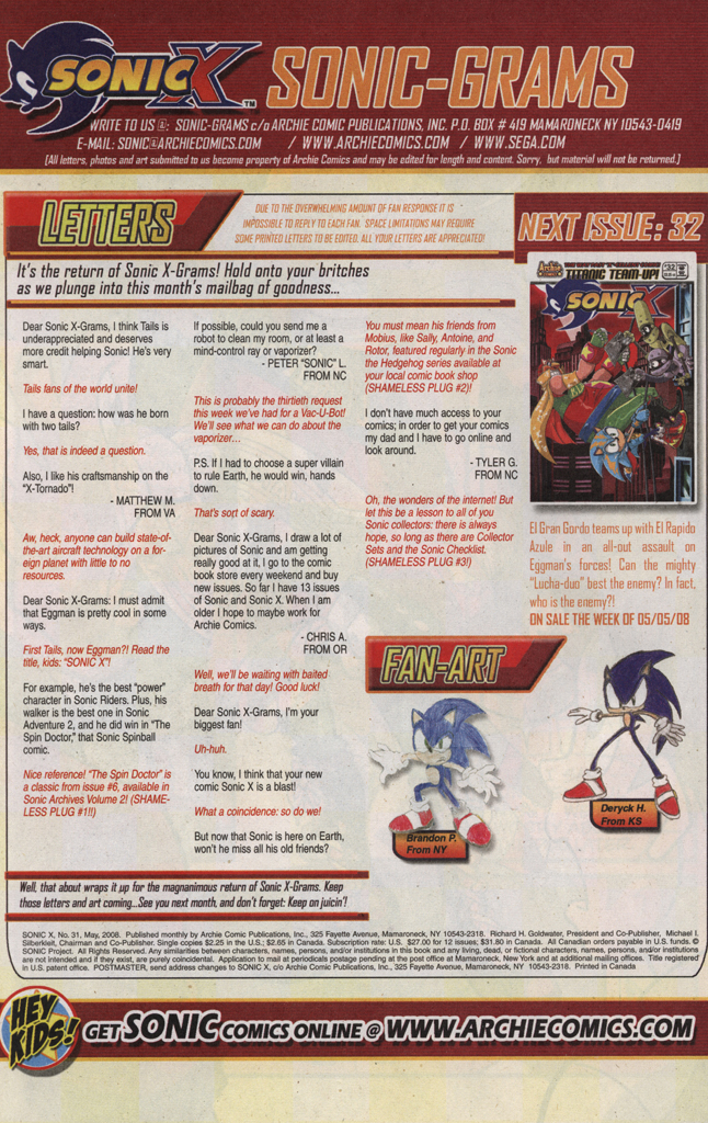 Read online Sonic X comic -  Issue #31 - 34