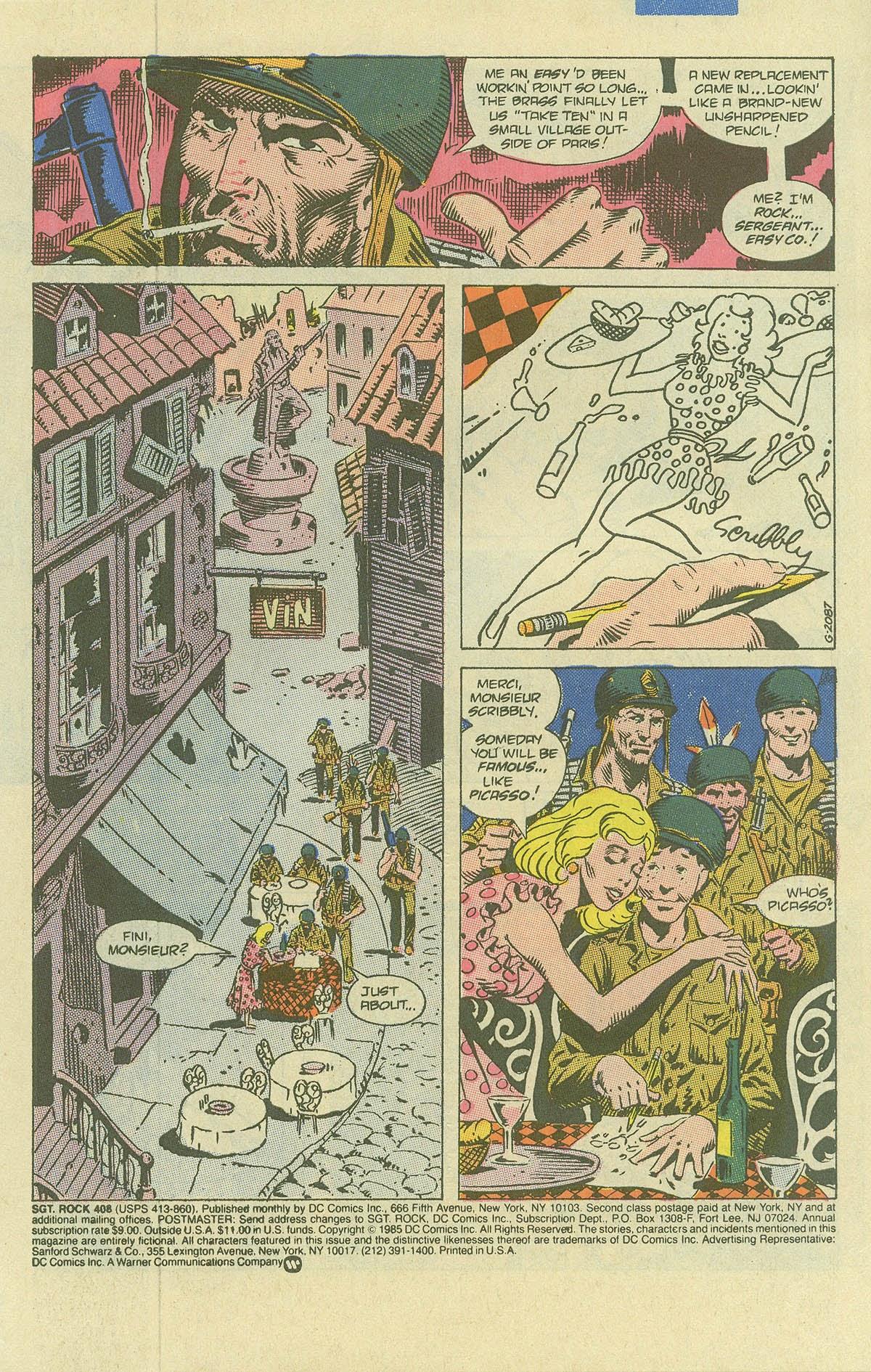 Read online Sgt. Rock comic -  Issue #408 - 3