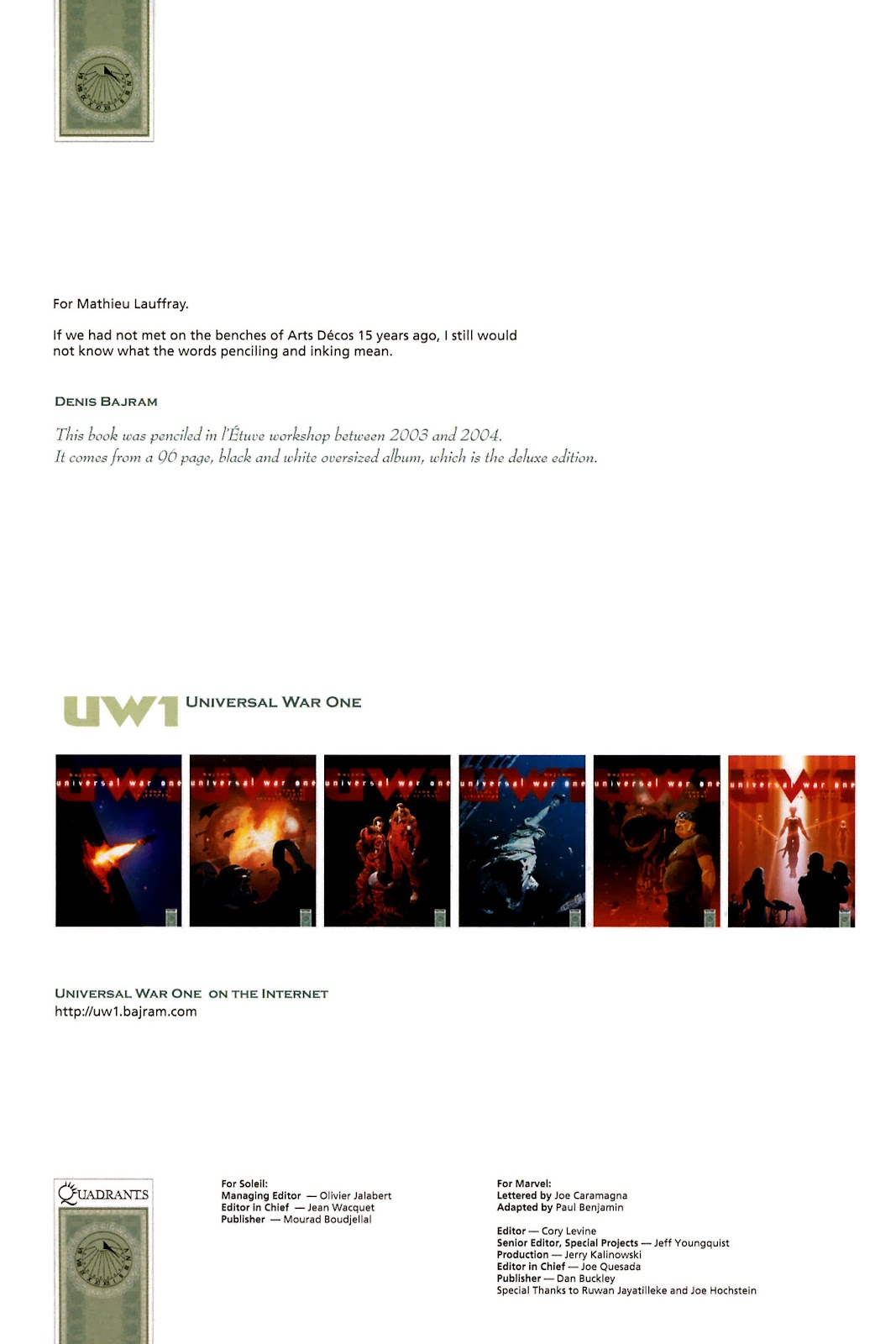 Read online Universal War One: Revelations comic -  Issue #2 - 4