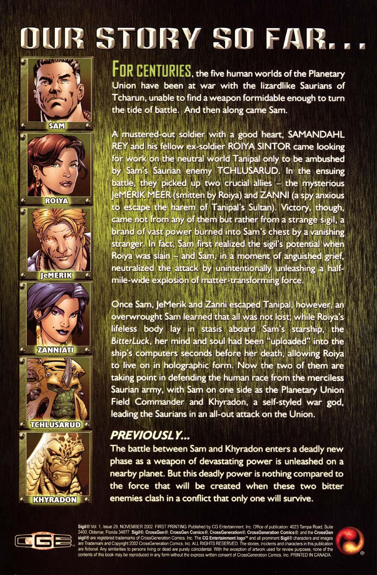 Read online Sigil (2000) comic -  Issue #29 - 2