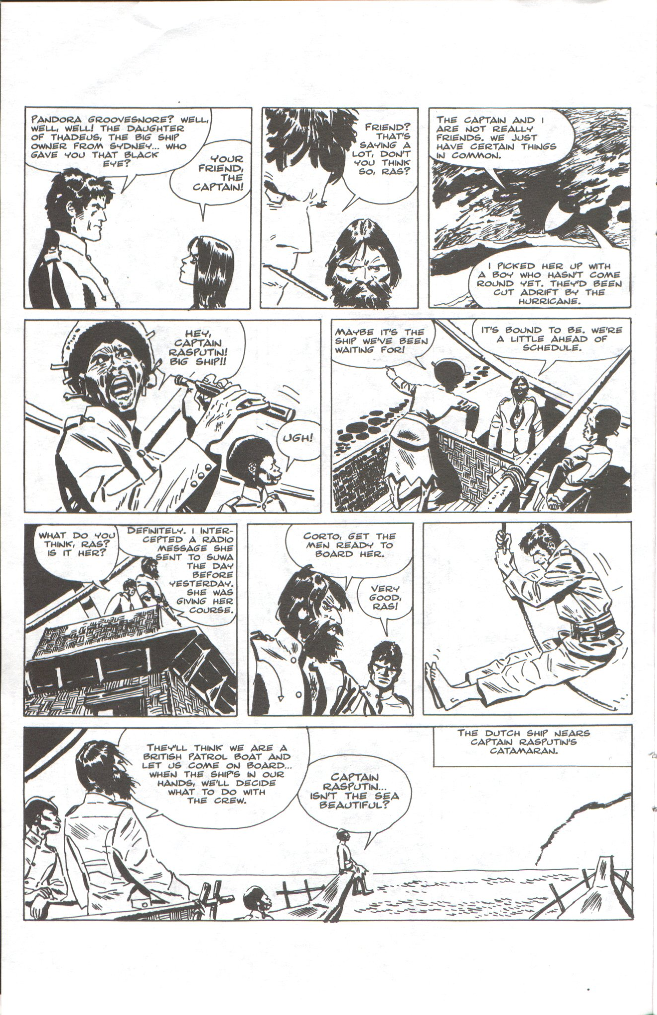 Read online Corto Maltese: Ballad of the Salt Sea comic -  Issue #1 - 10