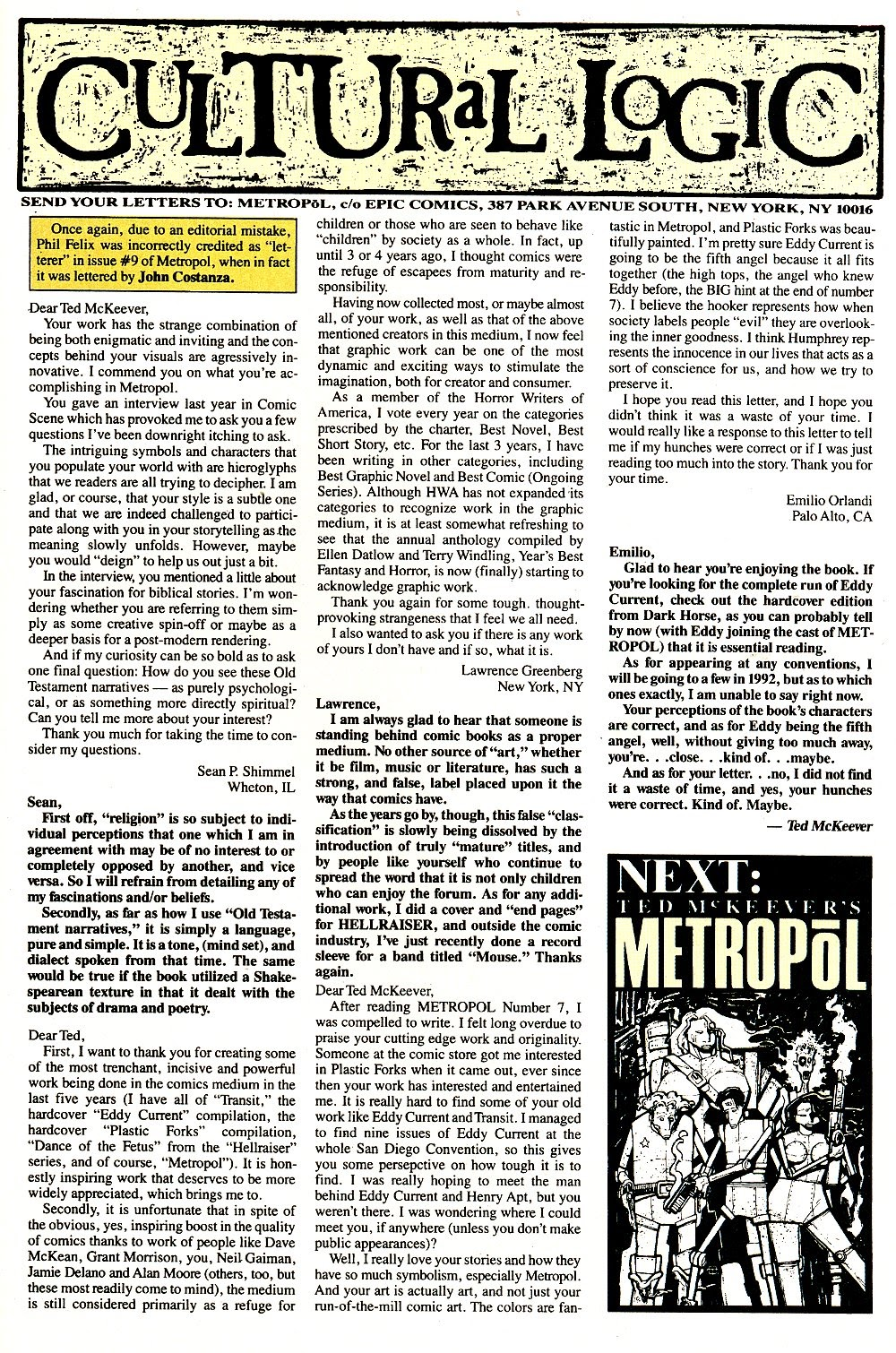 Read online Ted McKeever's Metropol comic -  Issue #11 - 31