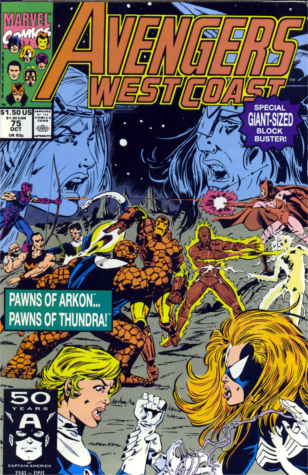 Avengers West Coast (1989) 75 Page 1
