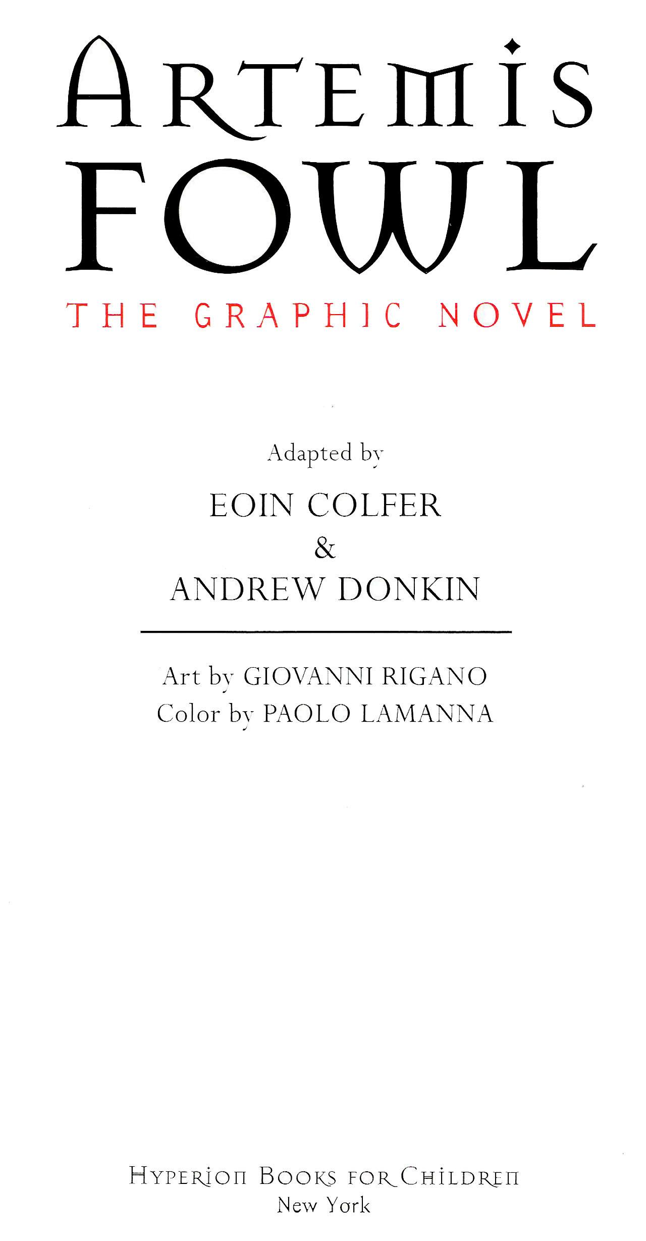 Read online Artemis Fowl: The Graphic Novel comic -  Issue #Artemis Fowl: The Graphic Novel Full - 3