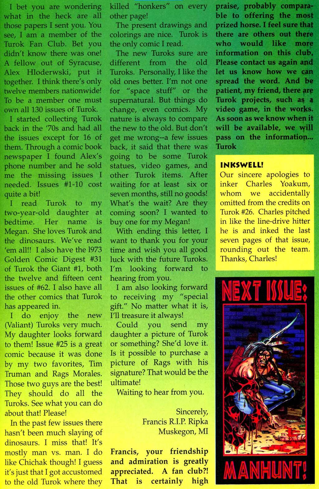 Read online Turok, Dinosaur Hunter (1993) comic -  Issue #28 - 24
