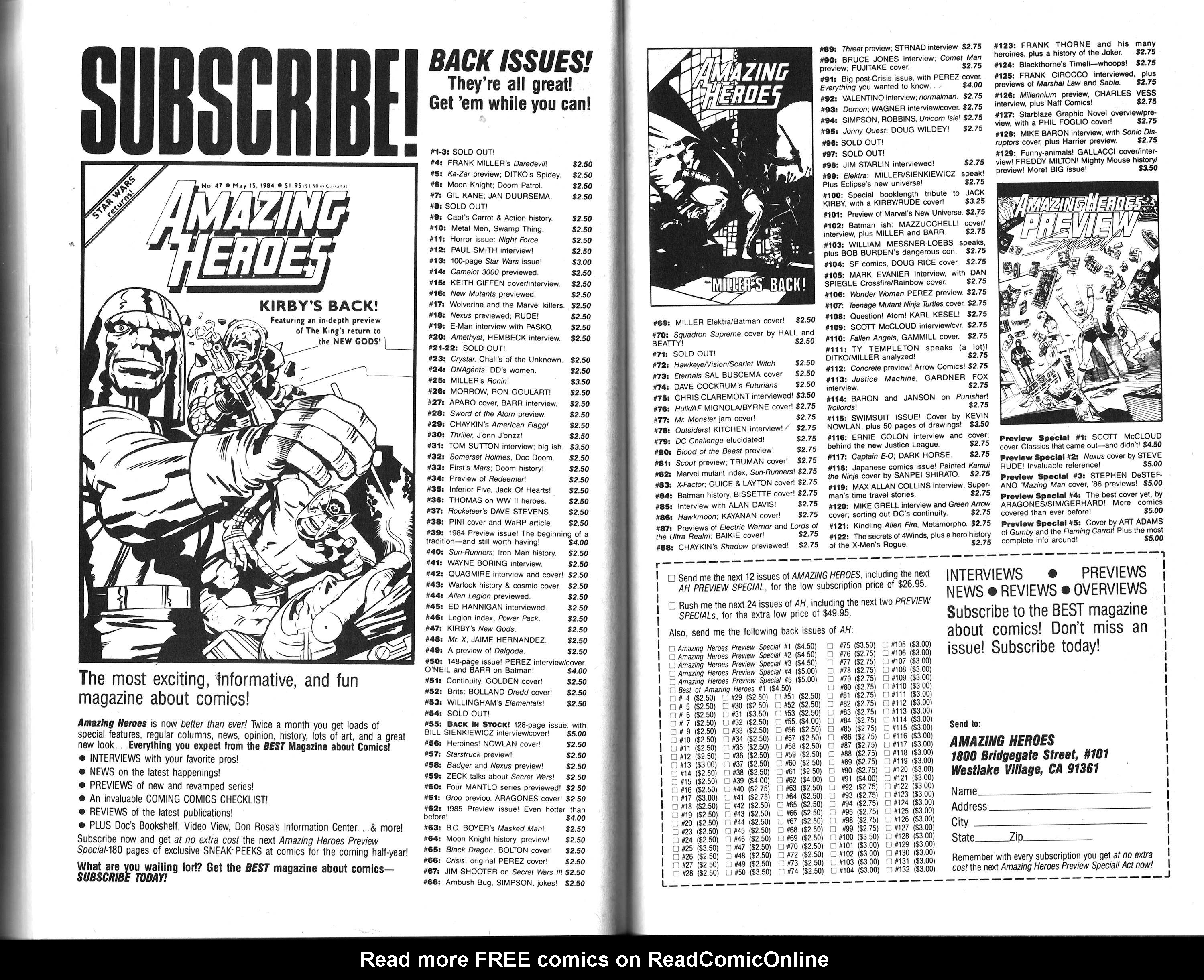 Read online Amazing Heroes comic -  Issue #133 - 106