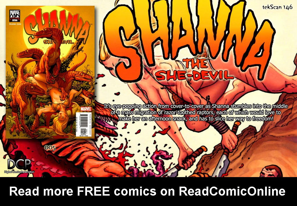 Read online Shanna, the She-Devil (2005) comic -  Issue #6 - 24
