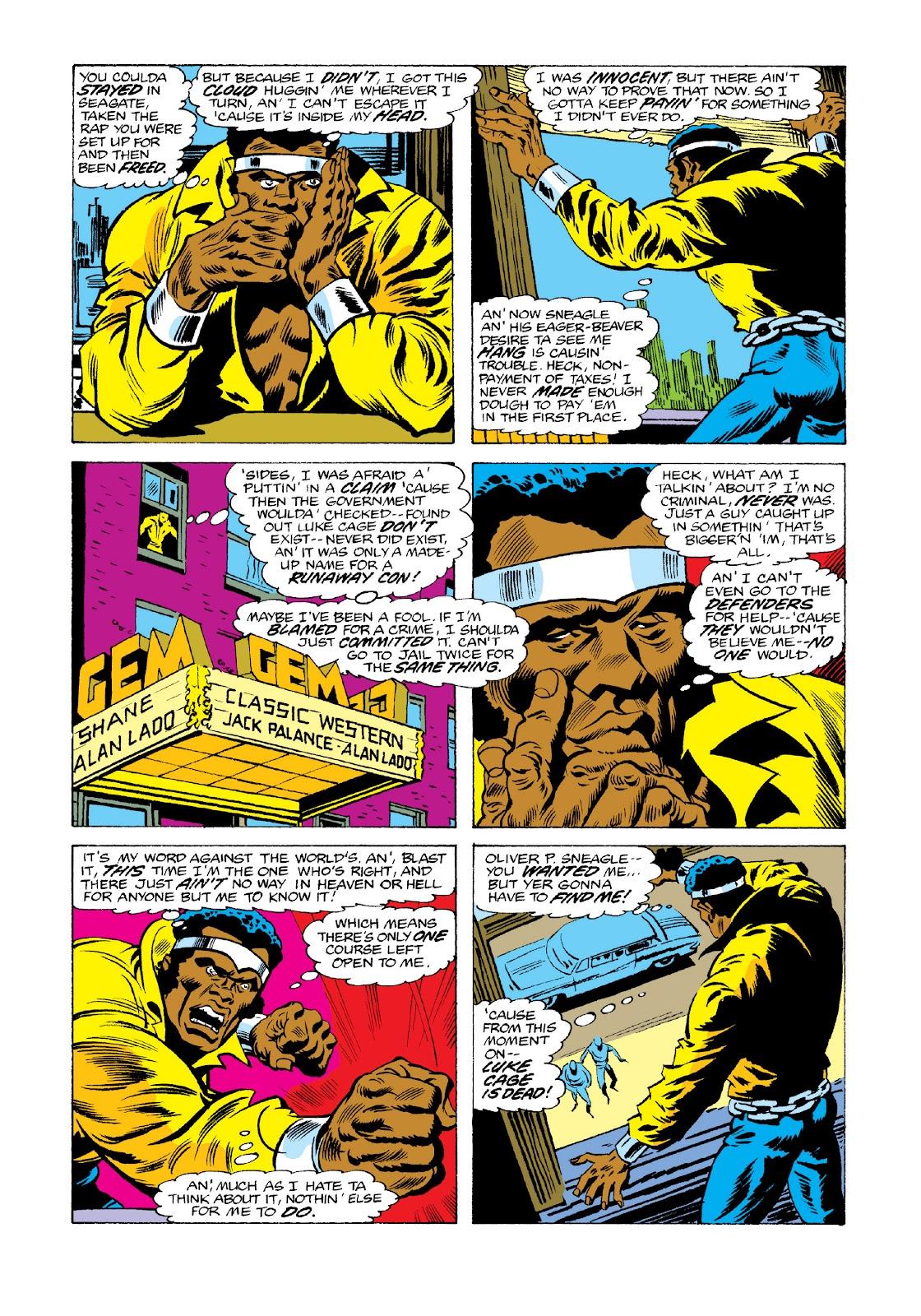 Read online Marvel Masterworks: Luke Cage, Power Man comic -  Issue # TPB 3 (Part 3) - 33