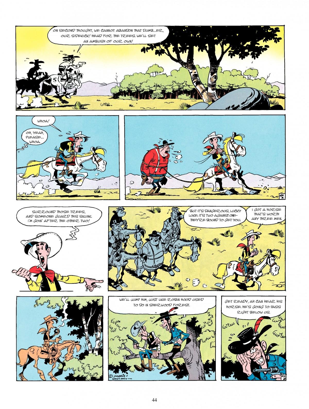 Read online A Lucky Luke Adventure comic -  Issue #4 - 46