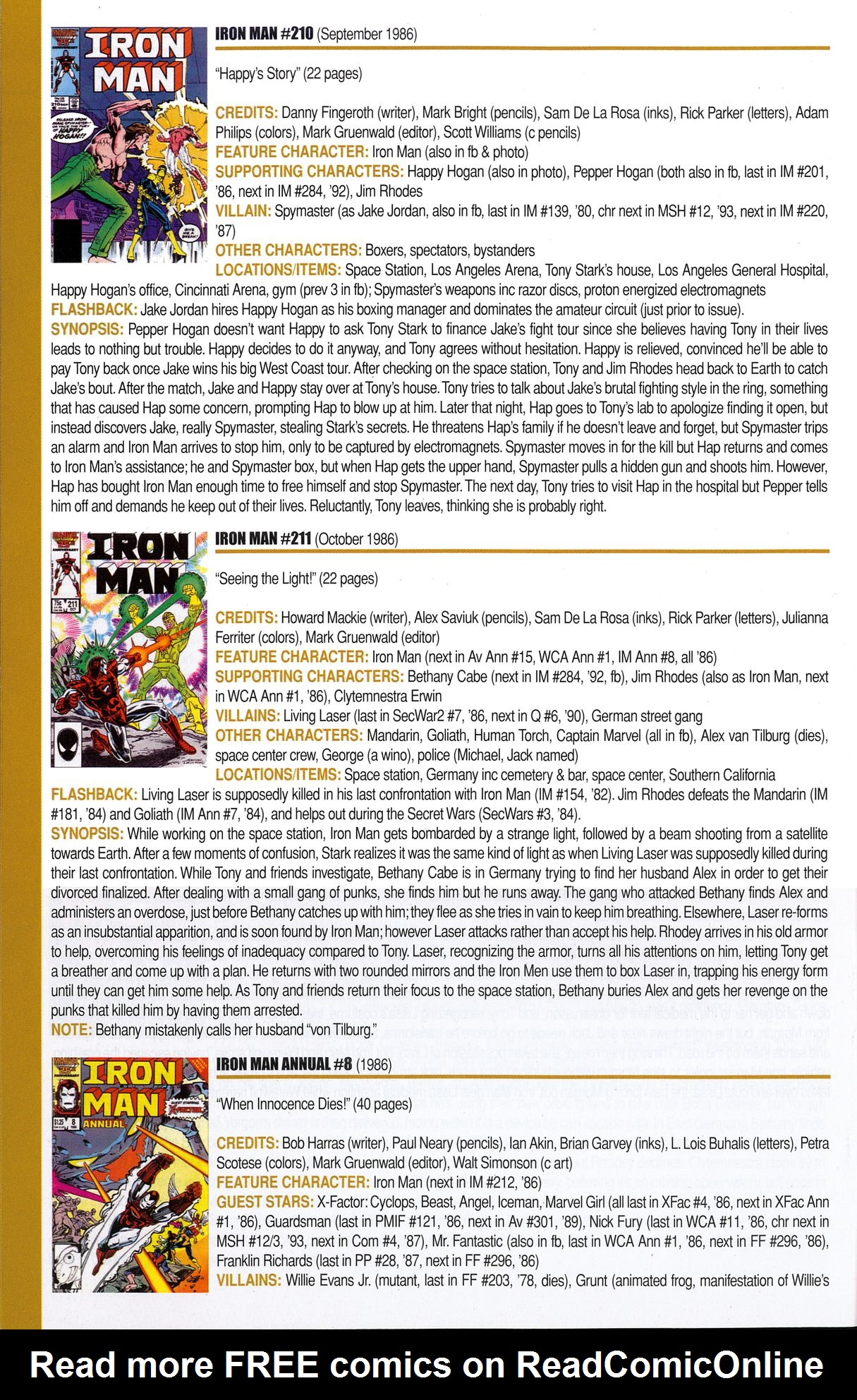 Read online Official Index to the Marvel Universe comic -  Issue #6 - 42