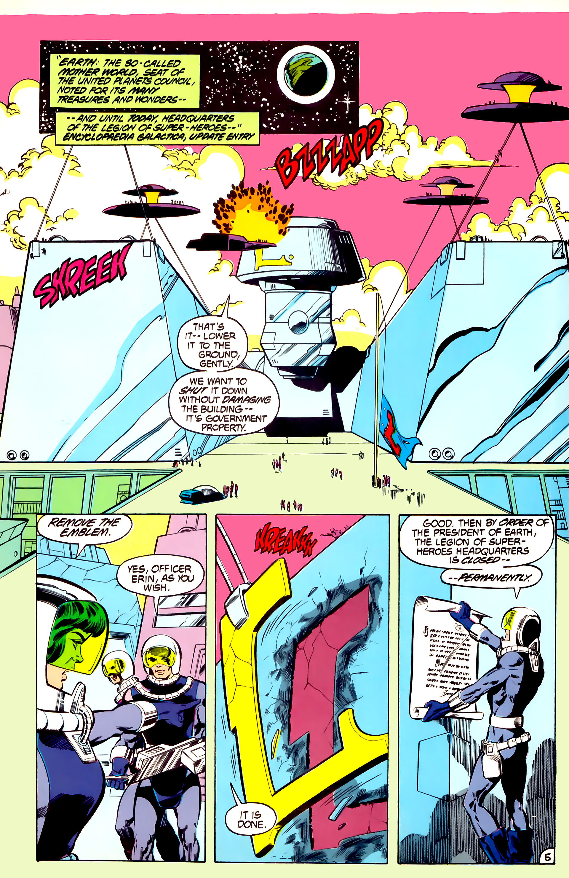 Legion of Super-Heroes (1984) 32 Page 4