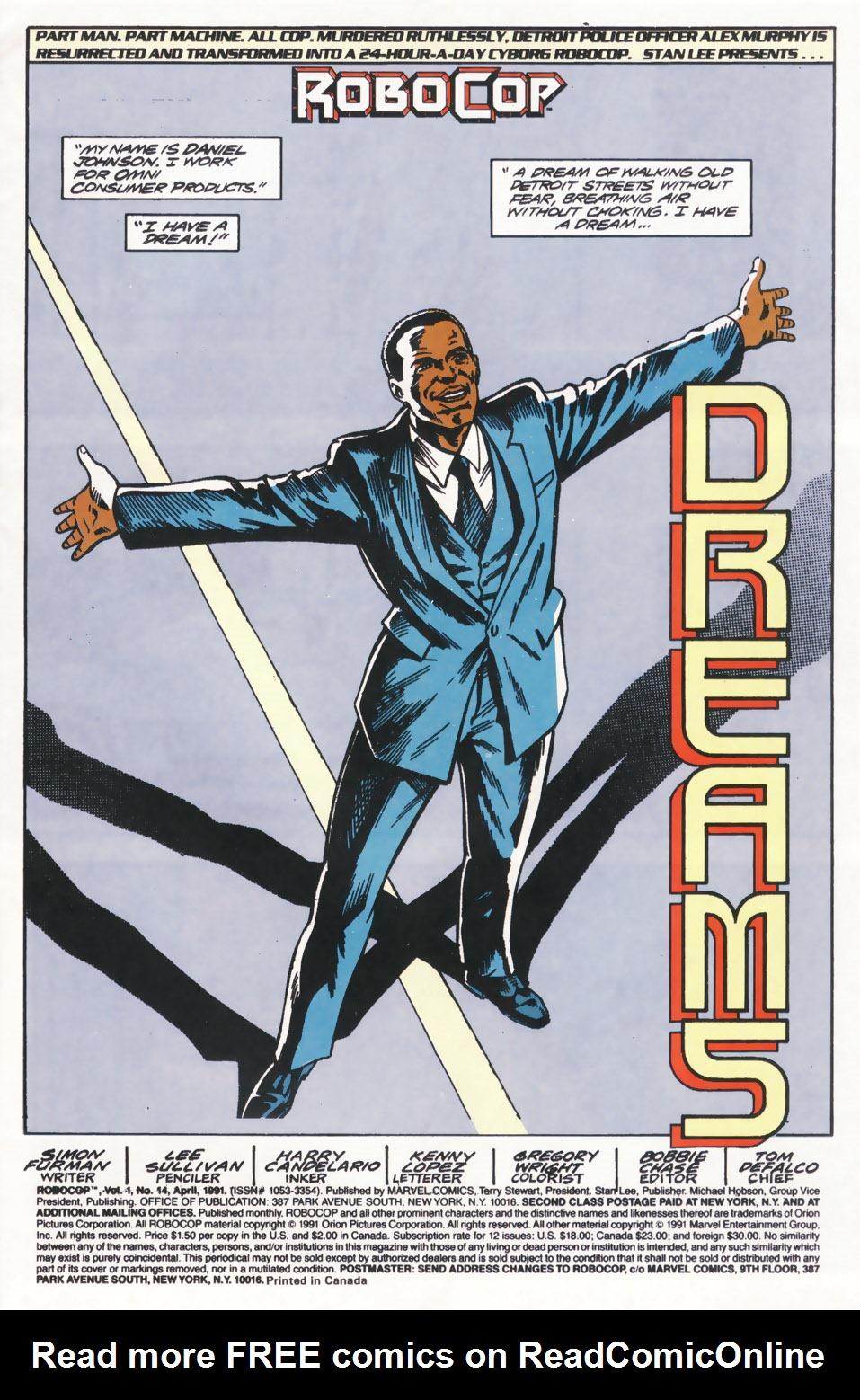Read online Robocop (1990) comic -  Issue #14 - 2