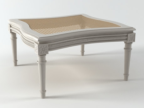 [3Dsmax] 3D model free - French 19th c. Table