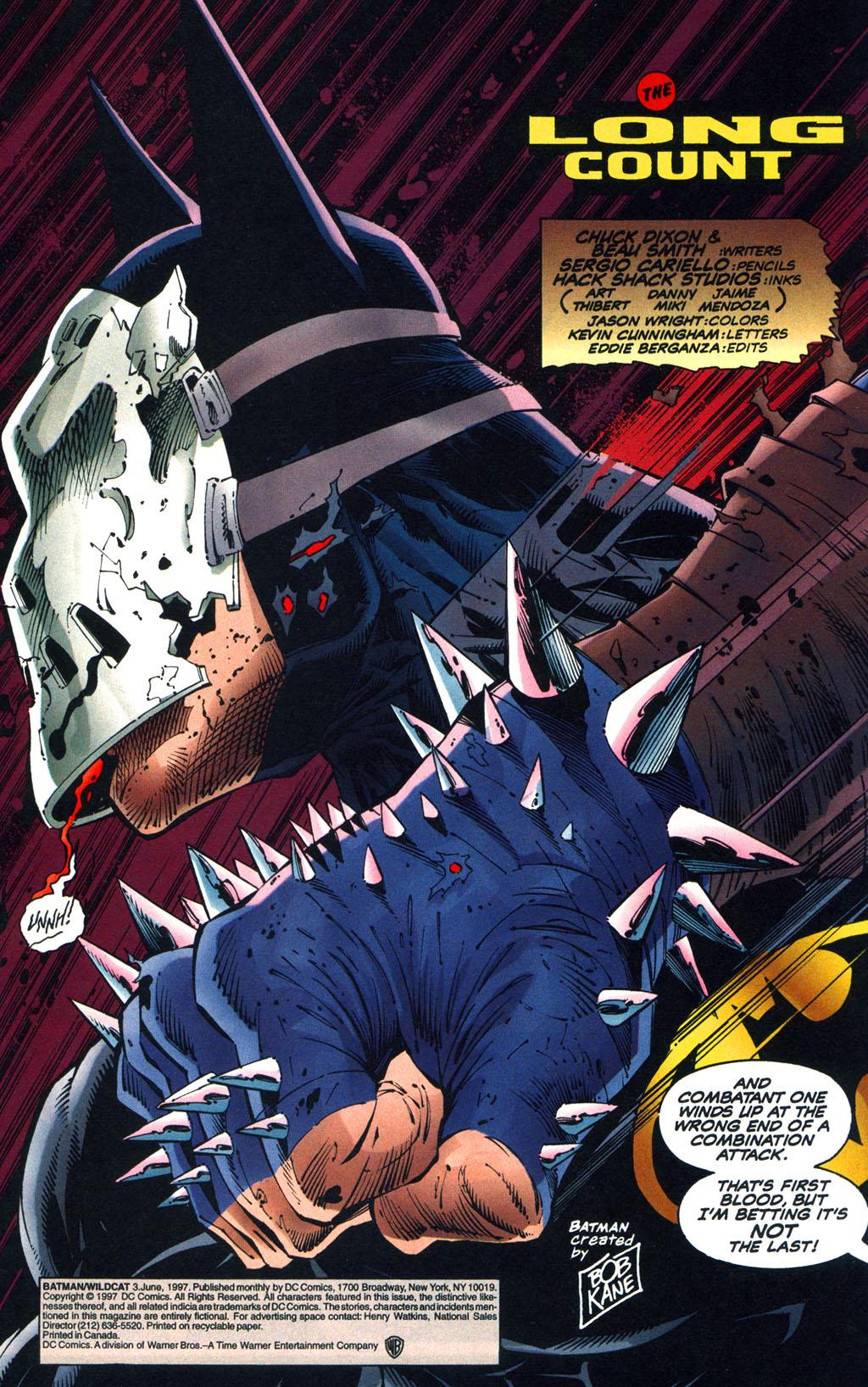 Read online Batman/Wildcat comic -  Issue #3 - 2