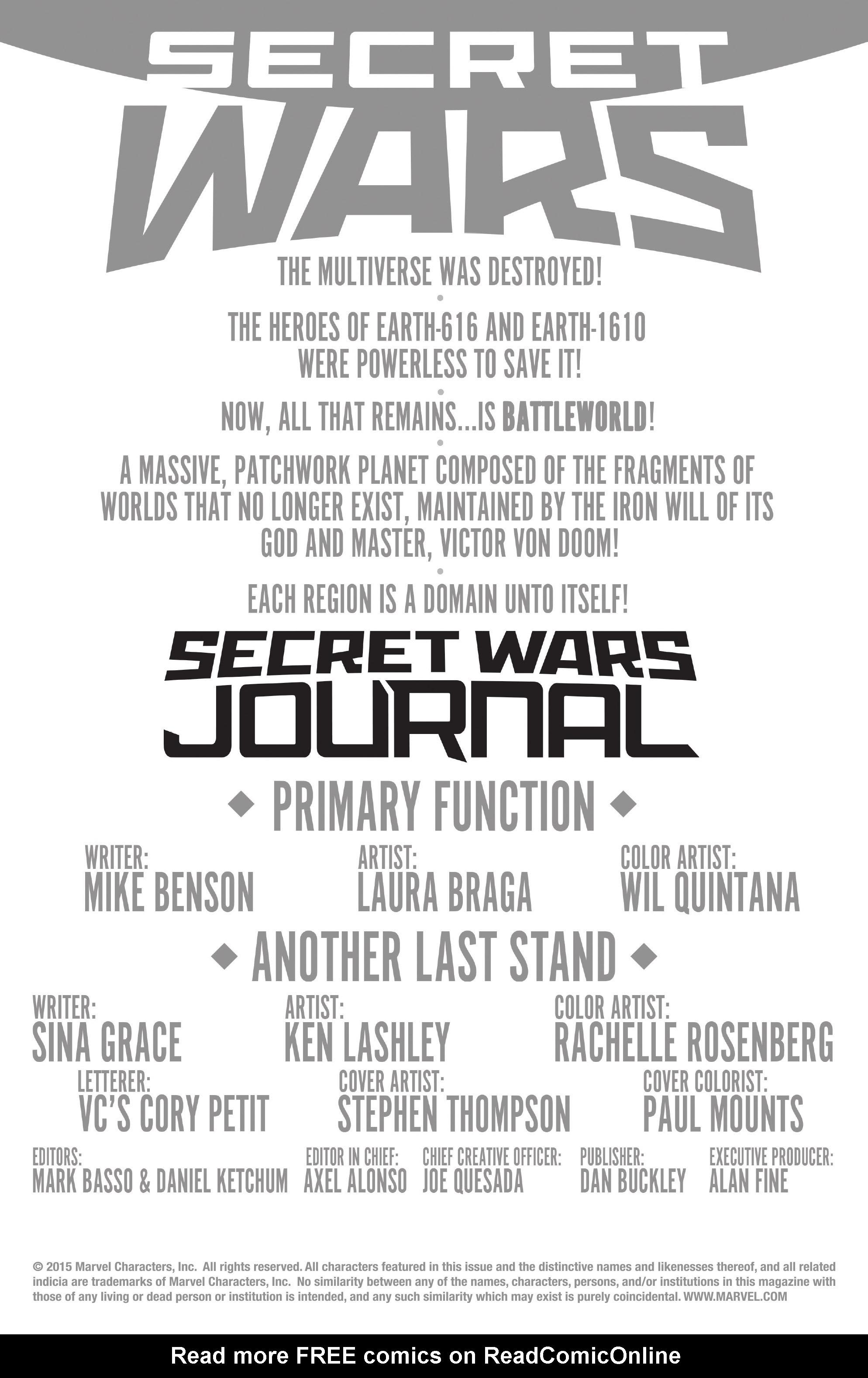 Read online Secret Wars Journal comic -  Issue #4 - 2
