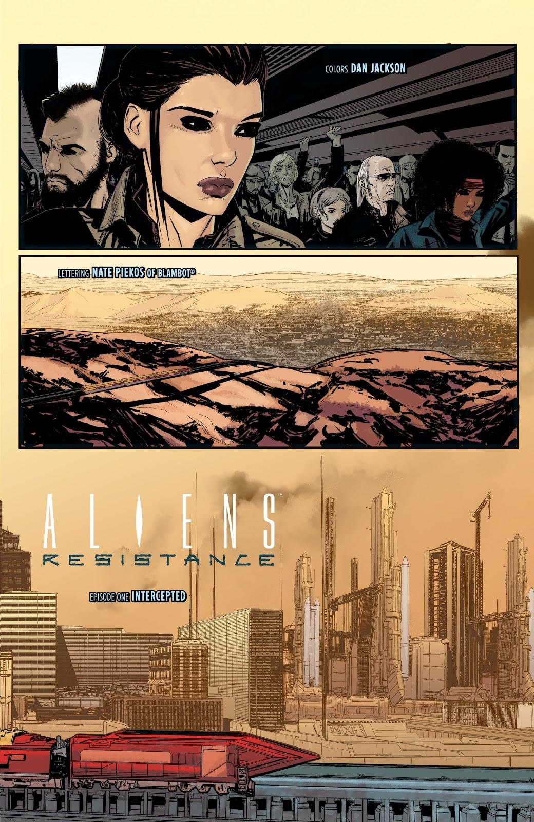 Read online Aliens: Resistance comic -  Issue #1 - 7