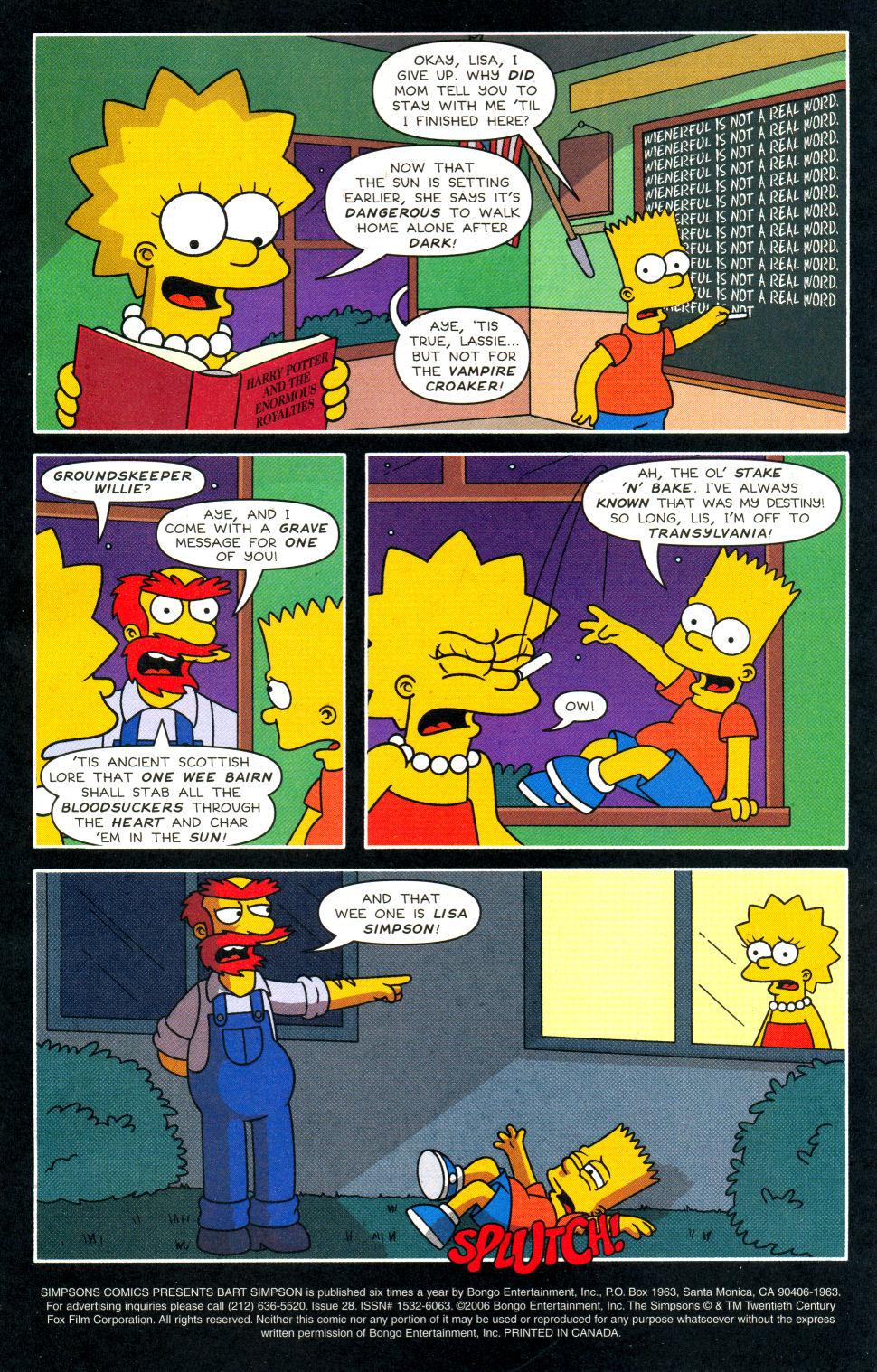 Read online Simpsons Comics Presents Bart Simpson comic -  Issue #28 - 2