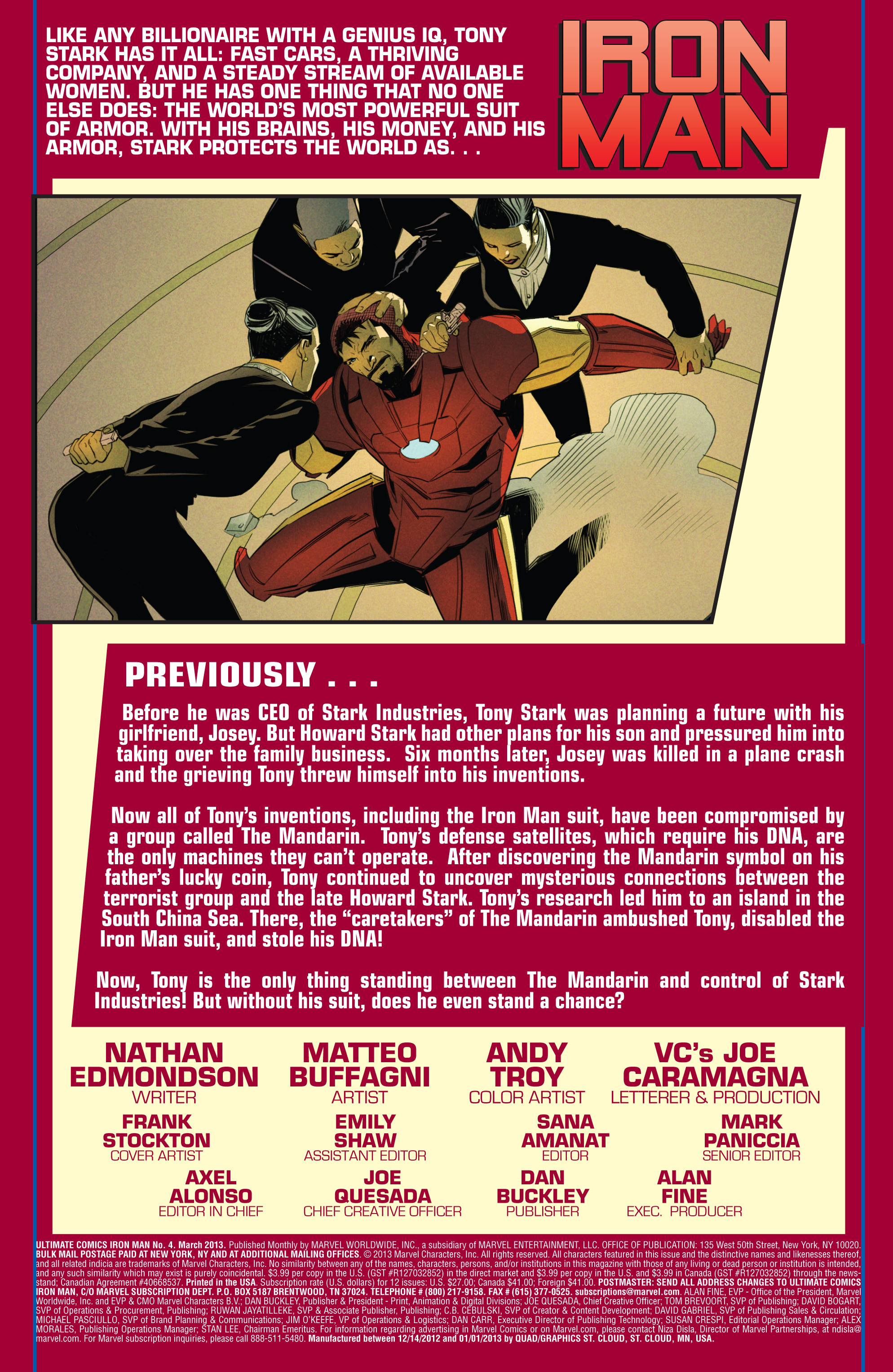 Read online Ultimate Comics Iron Man comic -  Issue #4 - 2