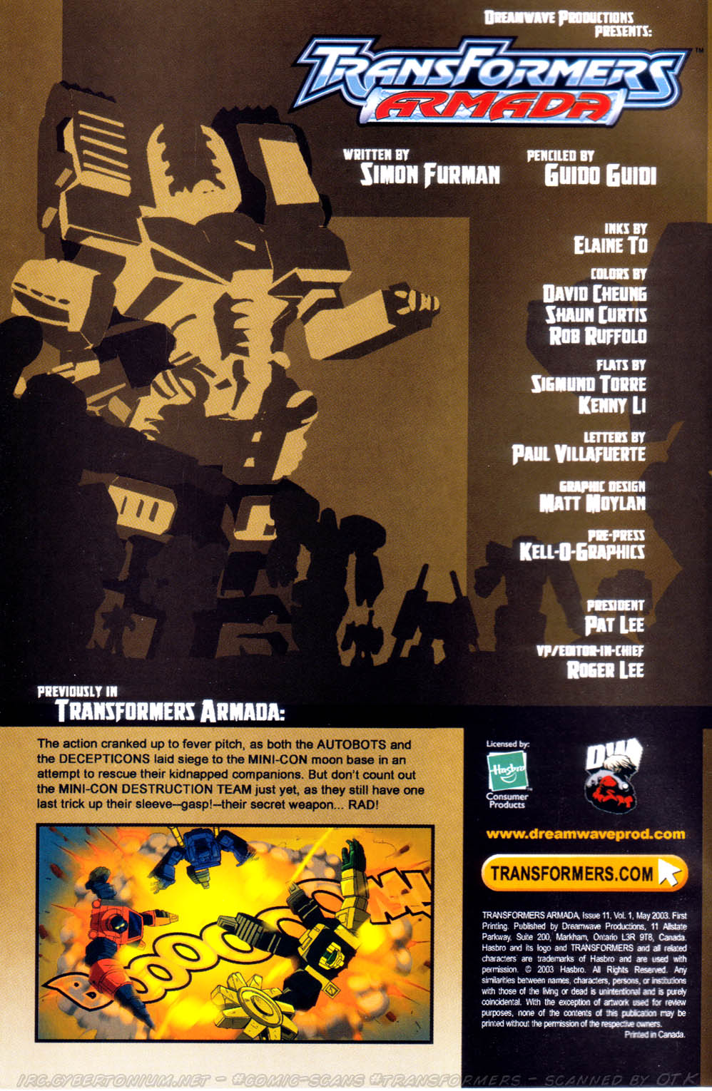 Read online Transformers Armada comic -  Issue #11 - 2