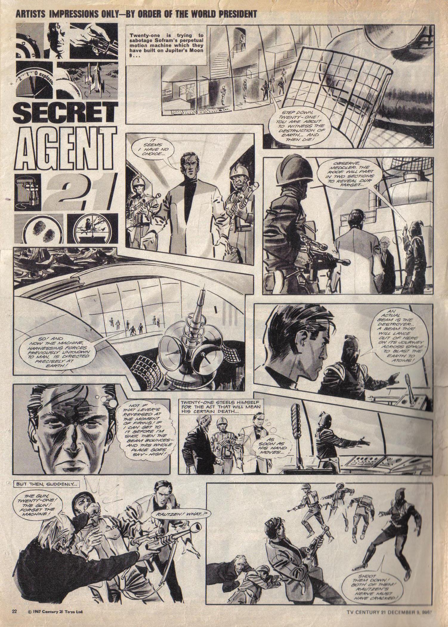 Read online TV Century 21 (TV 21) comic -  Issue #151 - 22
