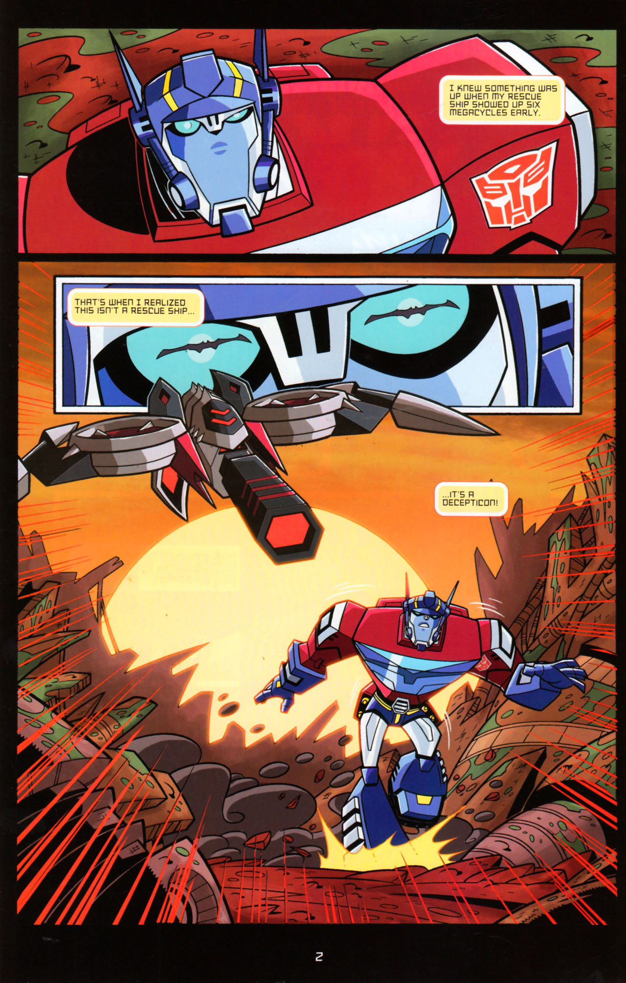 Read online Transformers Animated: The Arrival comic -  Issue #5 - 6