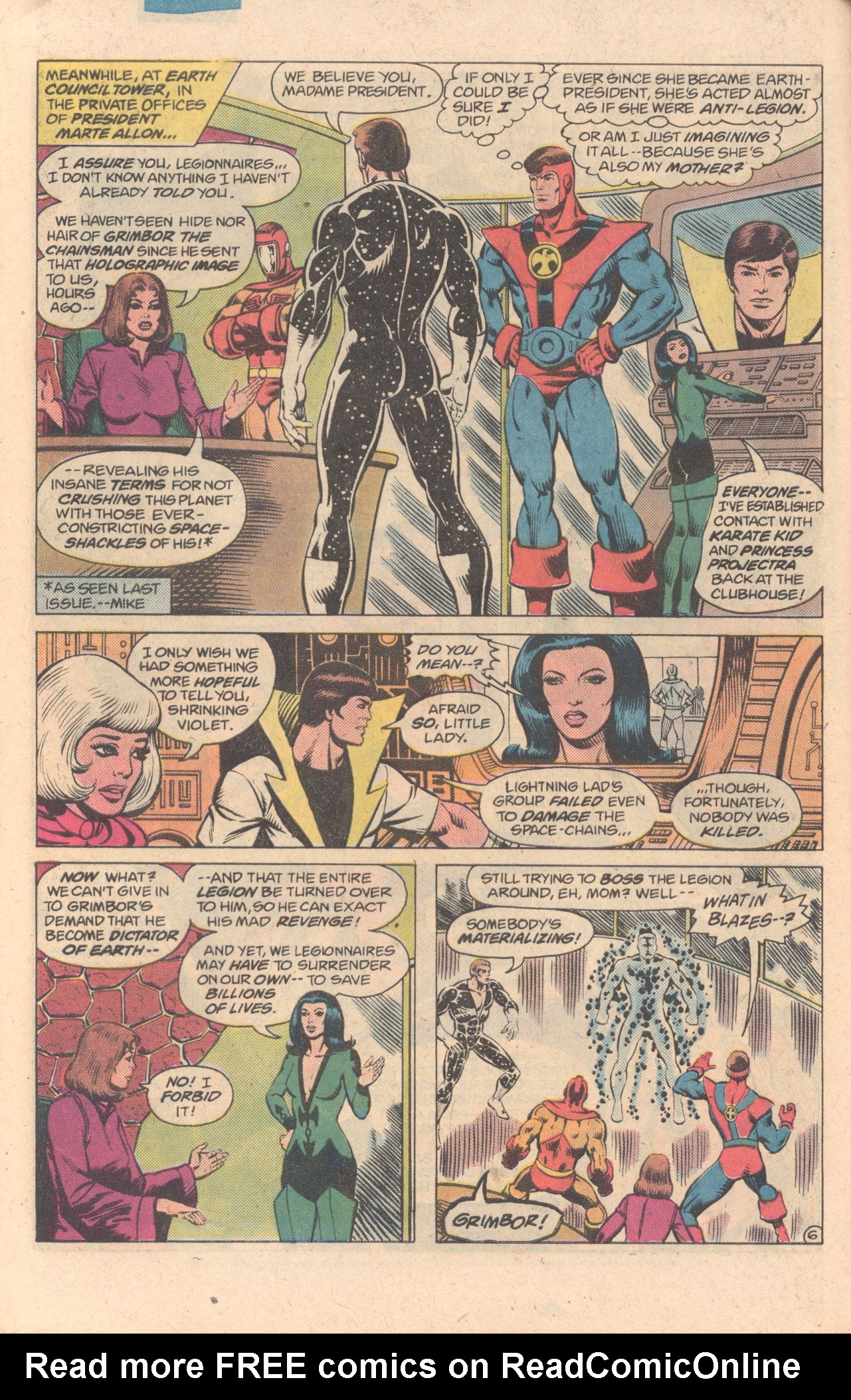 Legion of Super-Heroes (1980) 278 Page 6
