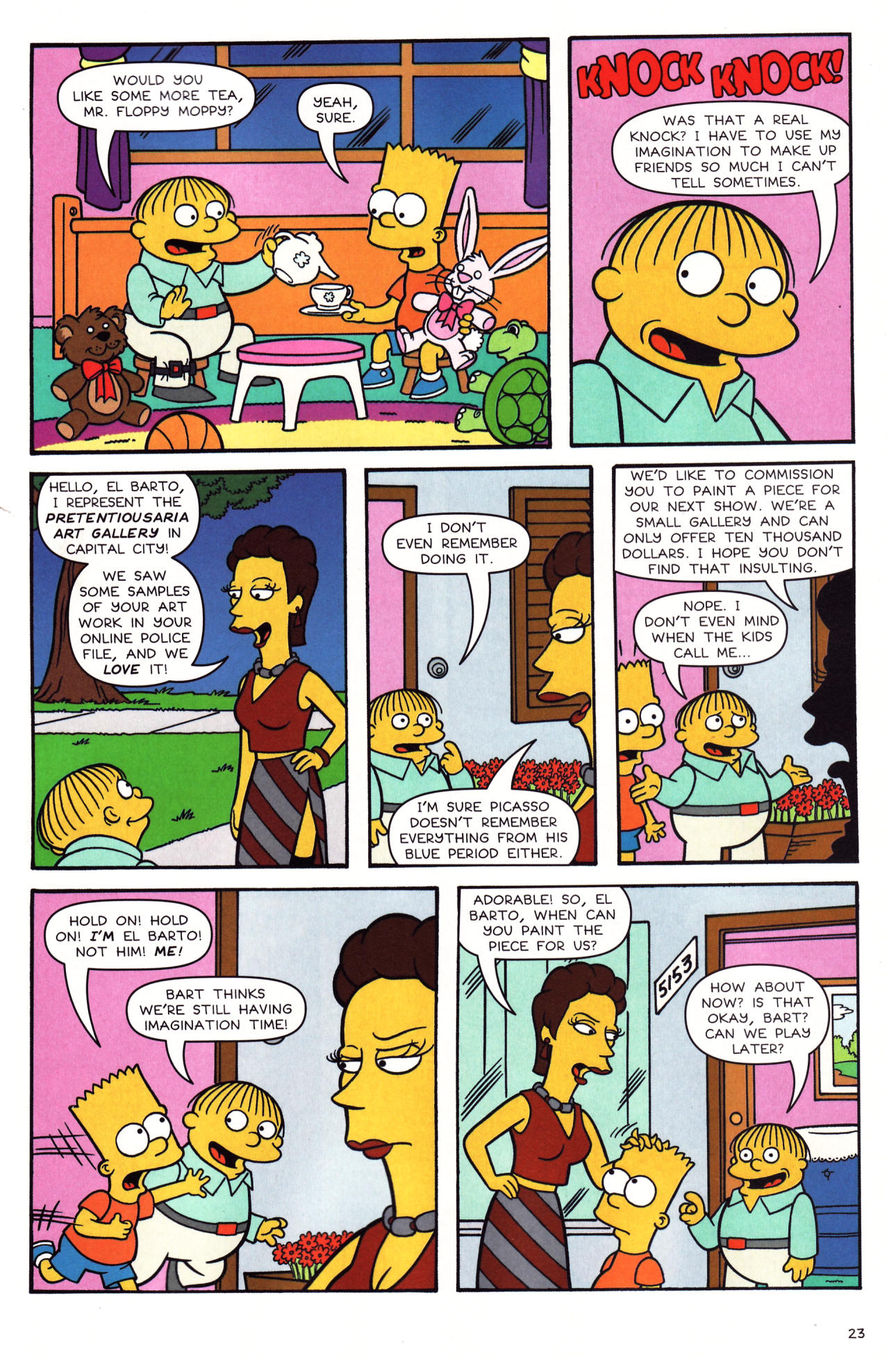 Read online Simpsons Comics comic -  Issue #136 - 18