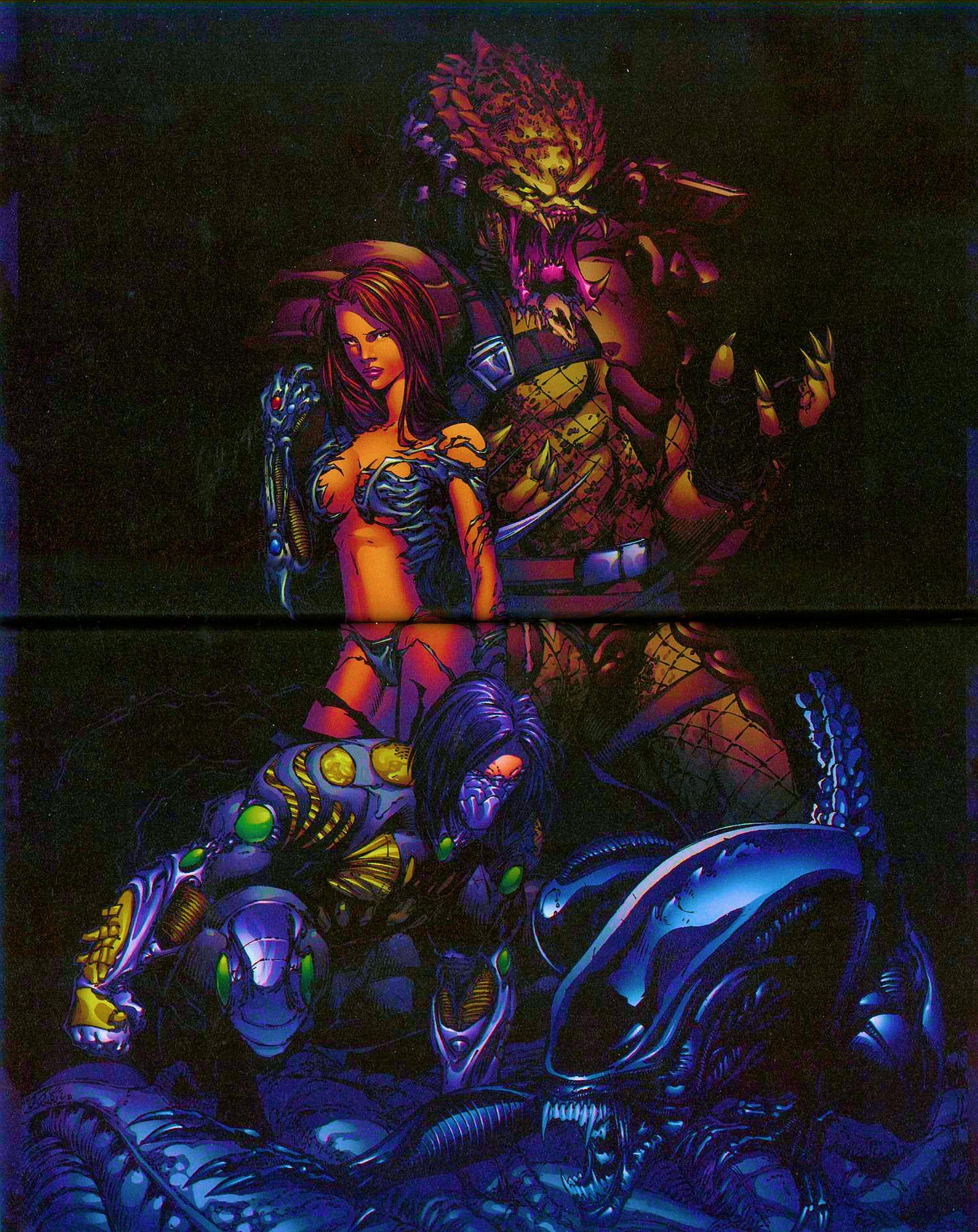 Read online Overkill: Witchblade/Aliens/Darkness/Predator comic -  Issue #2 - 38